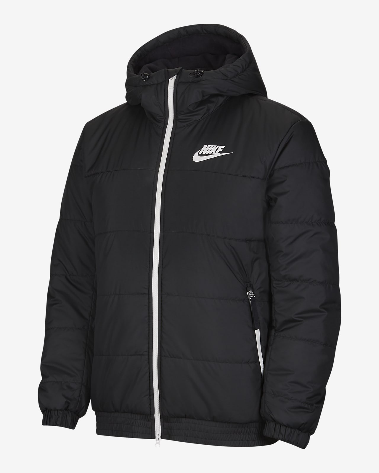 NIKE SPORTSWEAR SYNTHETIC FILL ZWART JAS HEREN