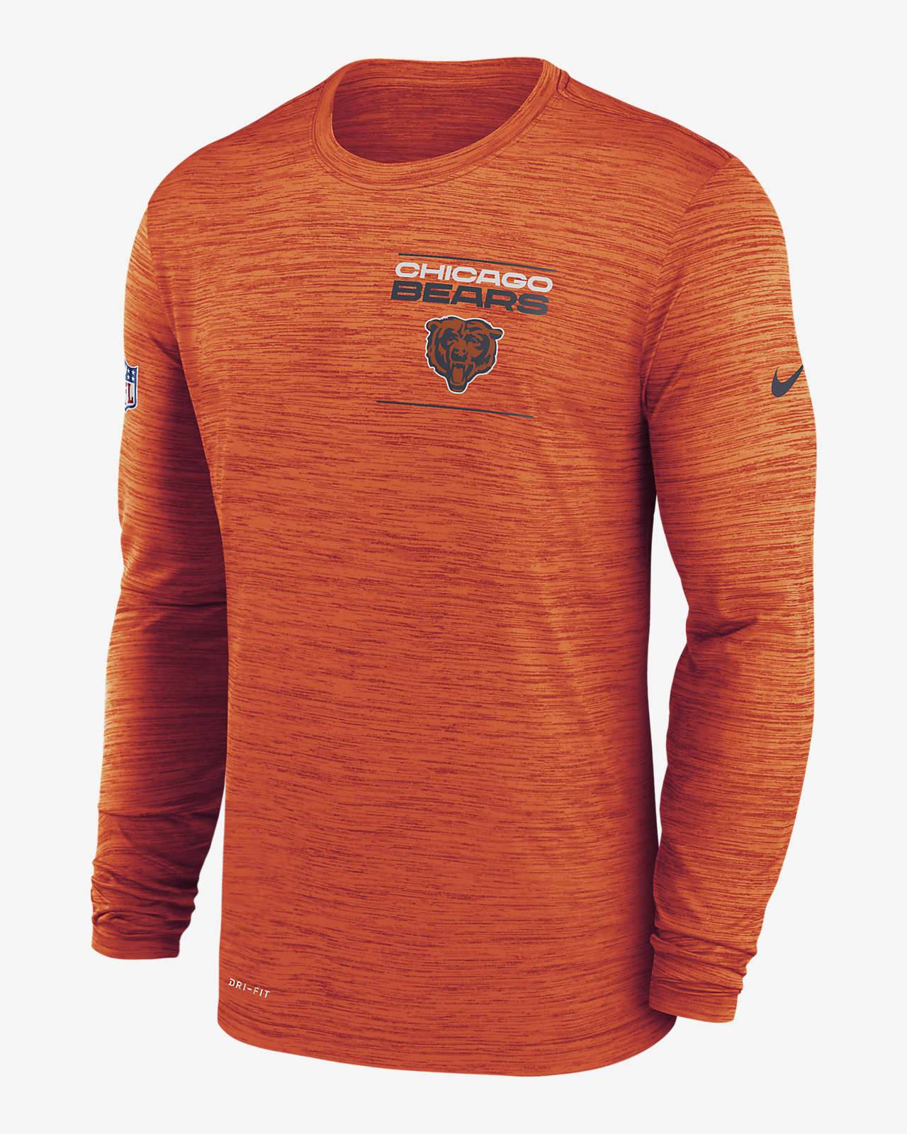 Nike Dri-FIT Sideline Velocity Legend (NFL Chicago Bears) Men's Long-Sleeve T-Shirt