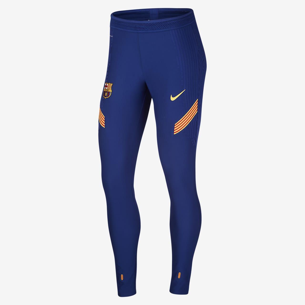 Calças de futebol Nike VaporKnit FC Barcelona Strike para mulher