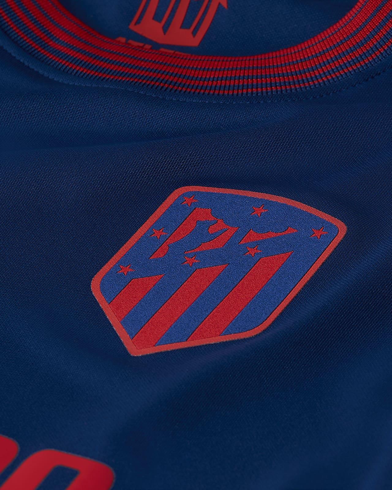 Atletico De Madrid 2020 2021 Stadium Away Older Kids Football Shirt Nike Lu
