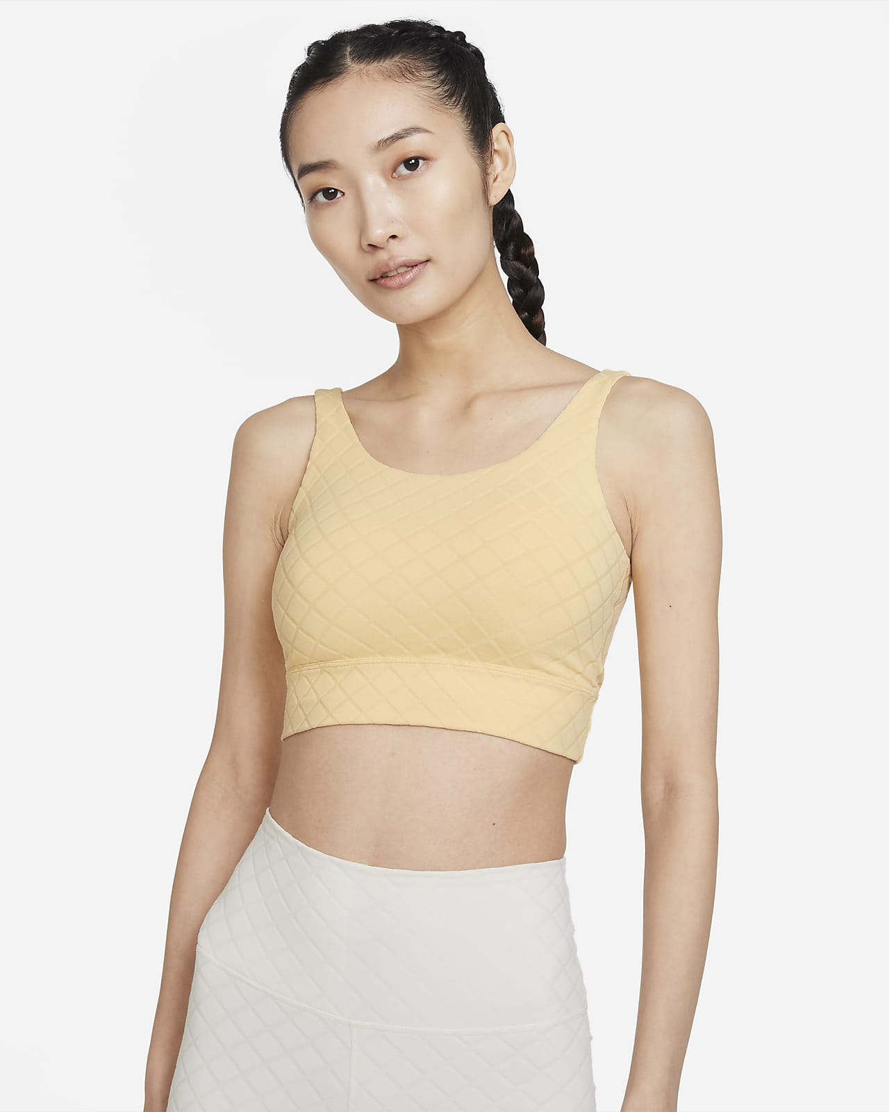 Nike Yoga Luxe 女款短版緹花背心