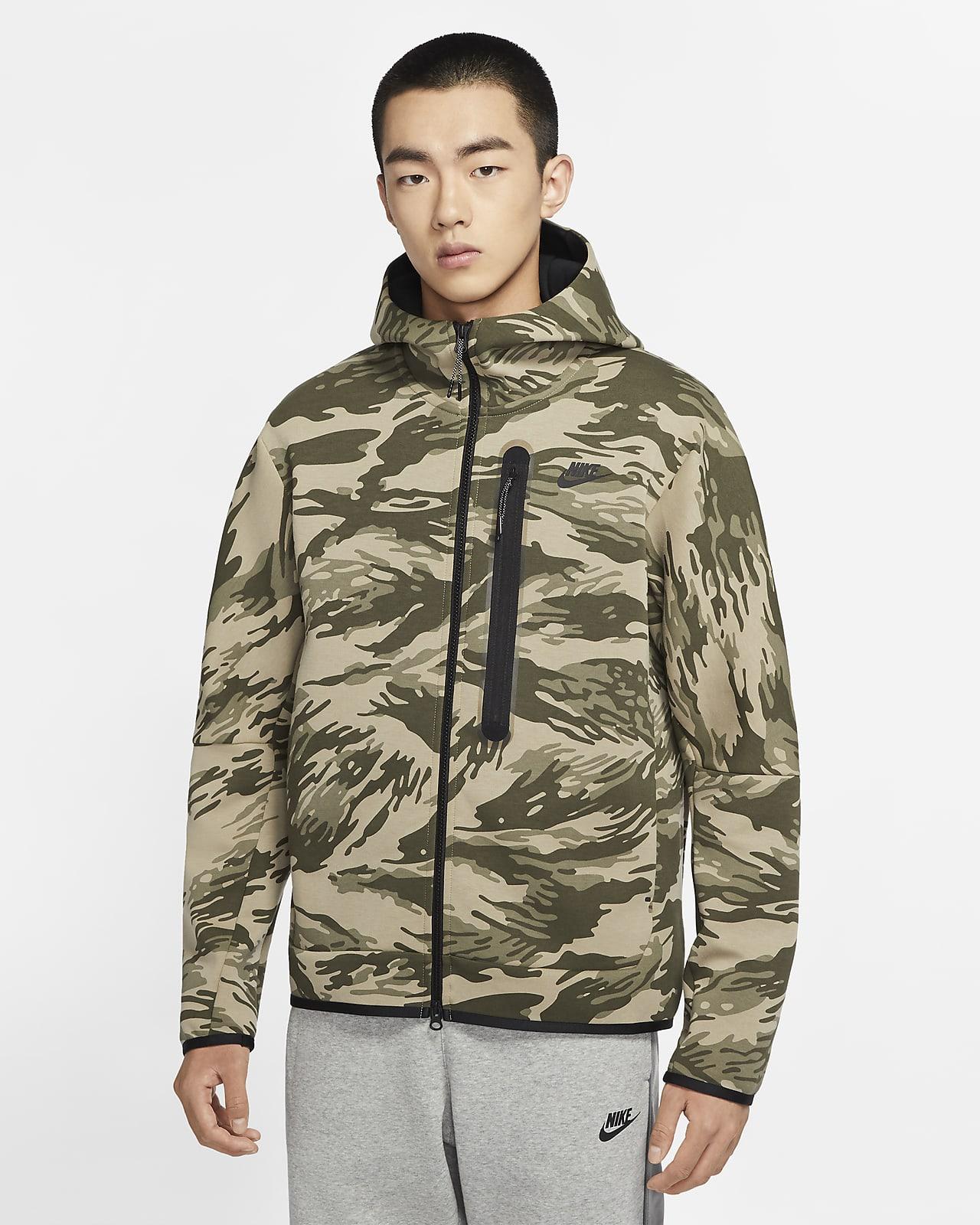 เสื้อมีฮู้ดซิปยาวผู้ชาย Nike Sportswear Tech Fleece
