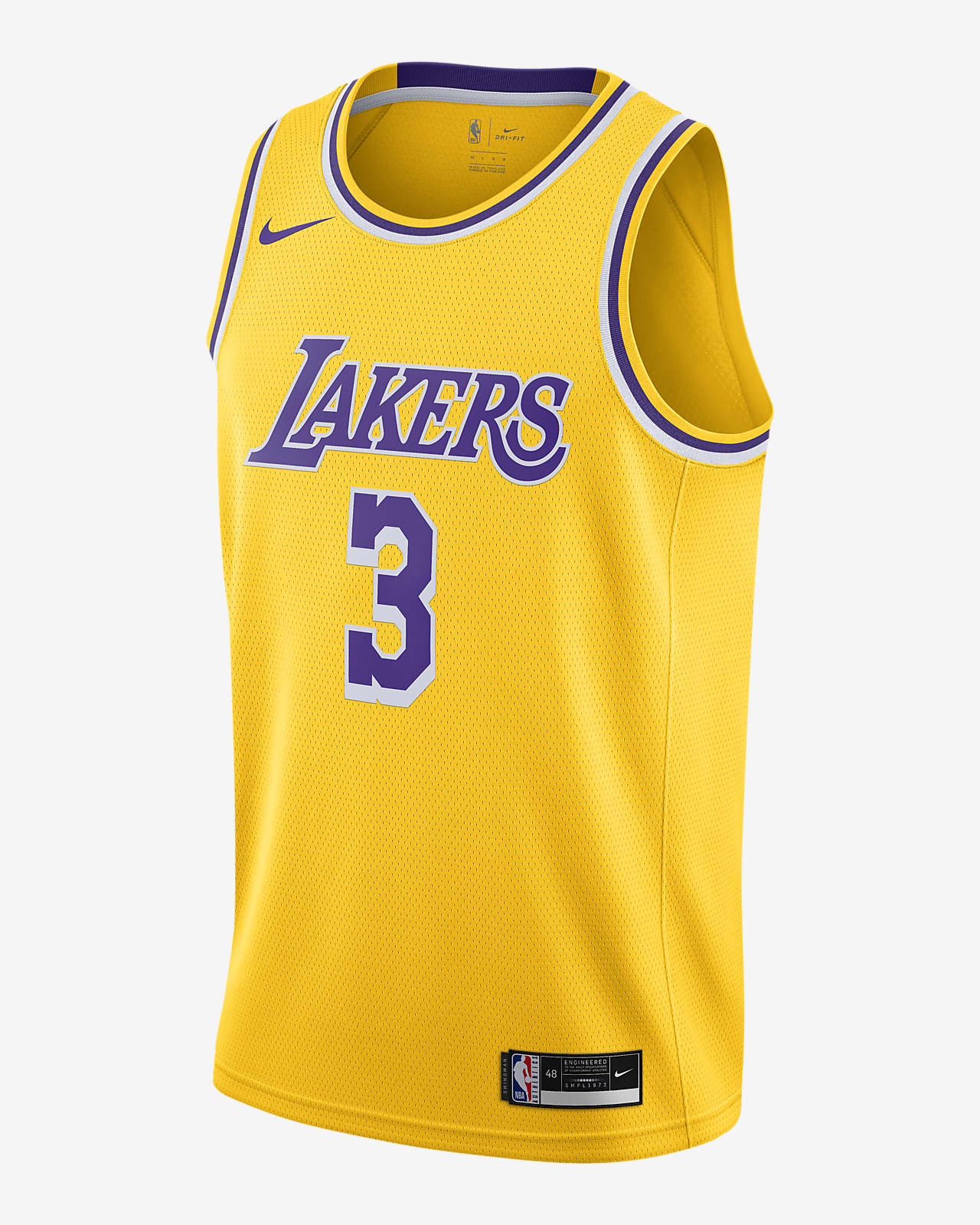 Anthony Davis (nba) Lakers Icon Edition 2020 Nike NBA Swingman Jersey