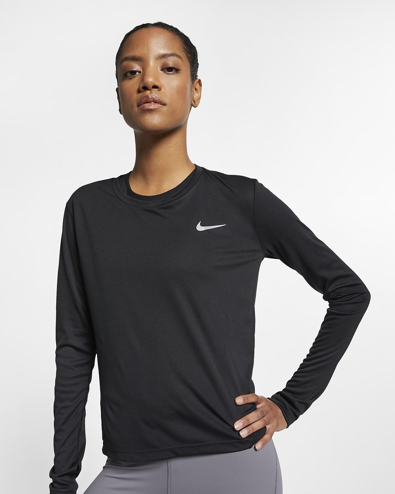 regimiento Enriquecimiento ~ lado  Nike Miler Women's Running Top. Nike JP