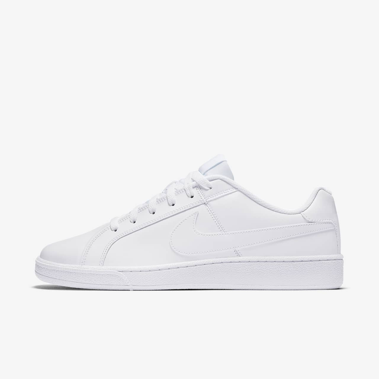 nike men white solid court royale sneakers