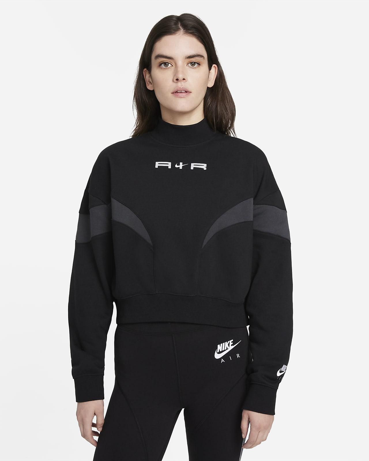 Camiseta de cuello alto de tejido Fleece para mujer Nike Air