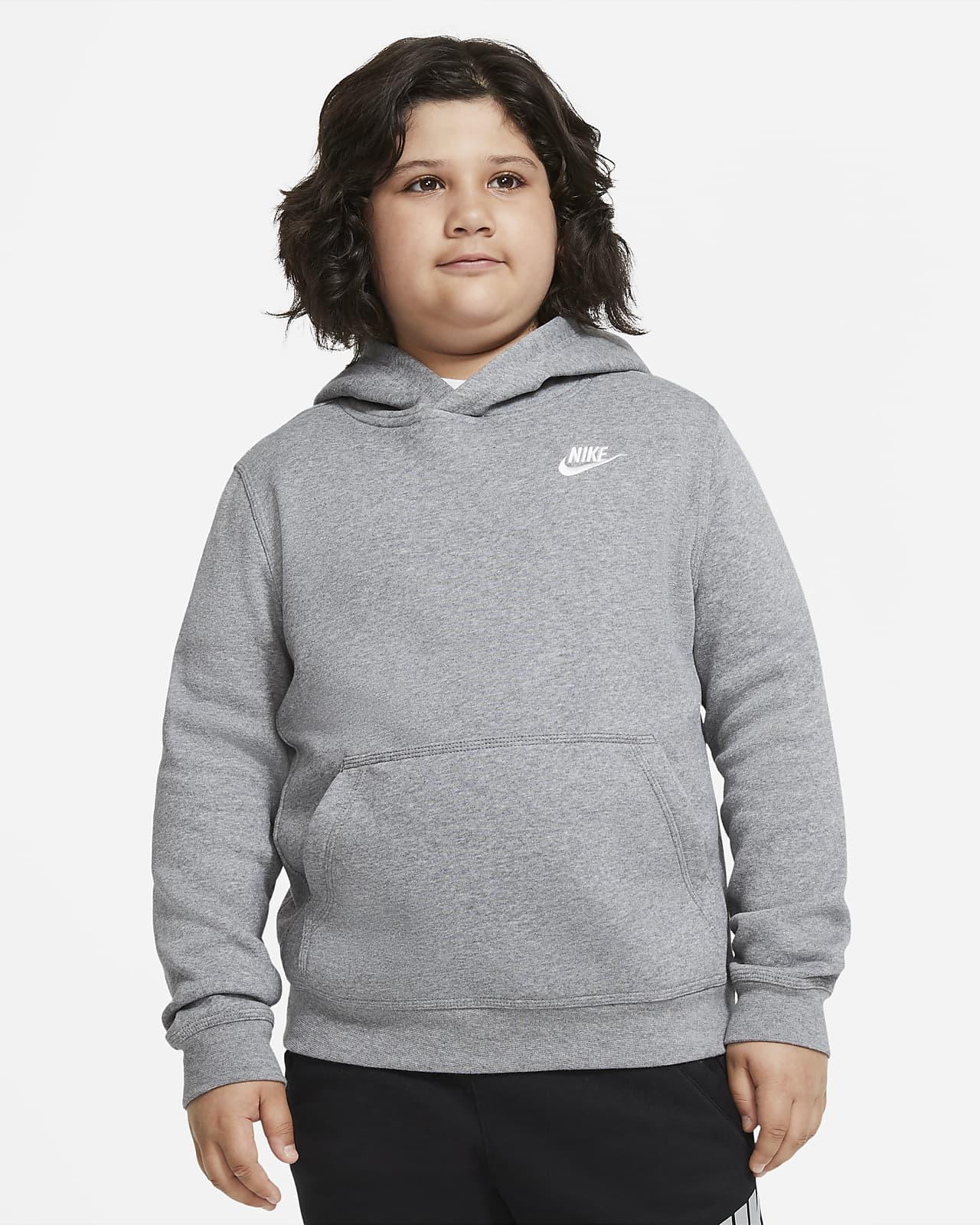 Sweat à capuche Nike Sportswear Club Fleece pour Garçon plus âgé (grande taille)