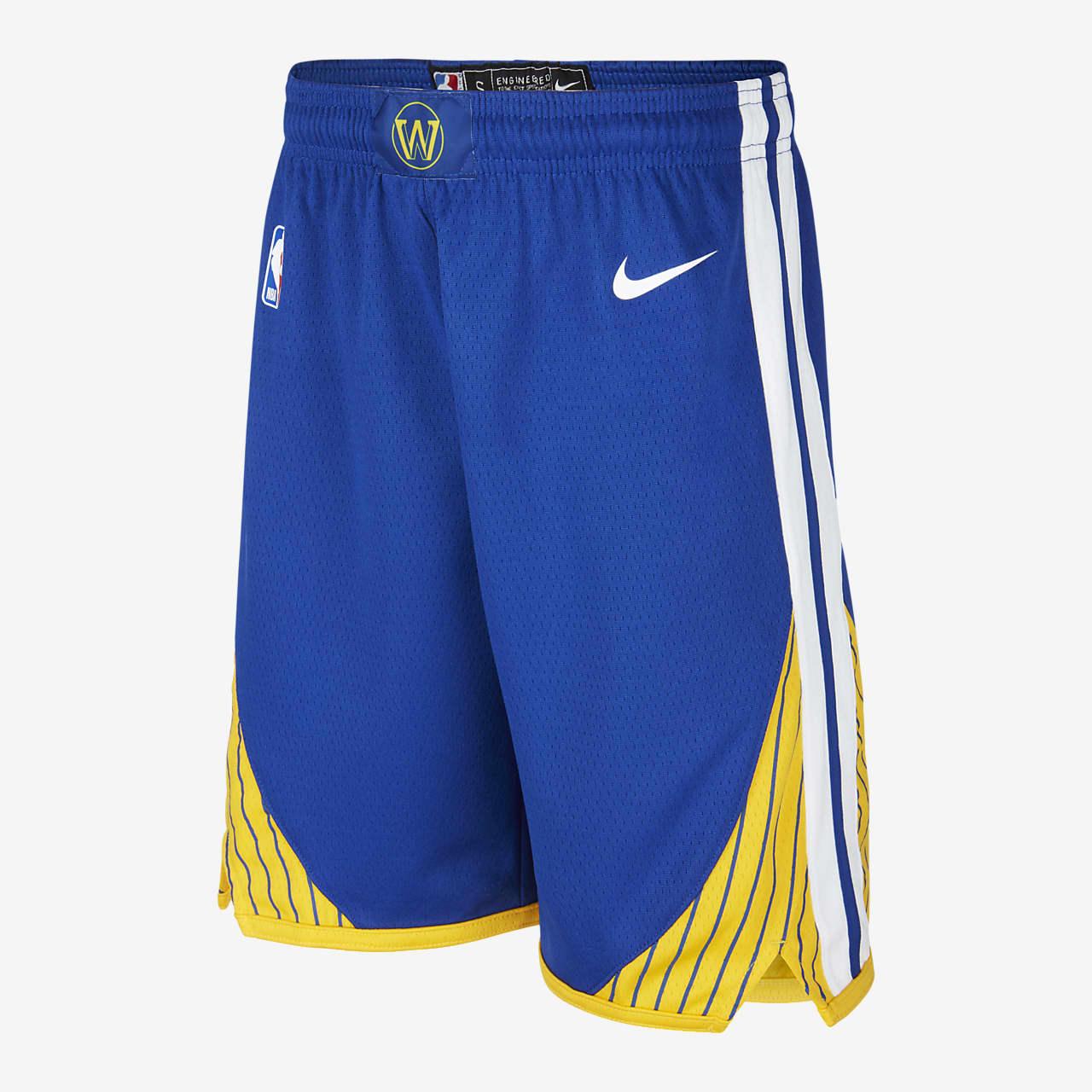 Warriors Icon Edition Nike NBA Swingman-shorts til store børn