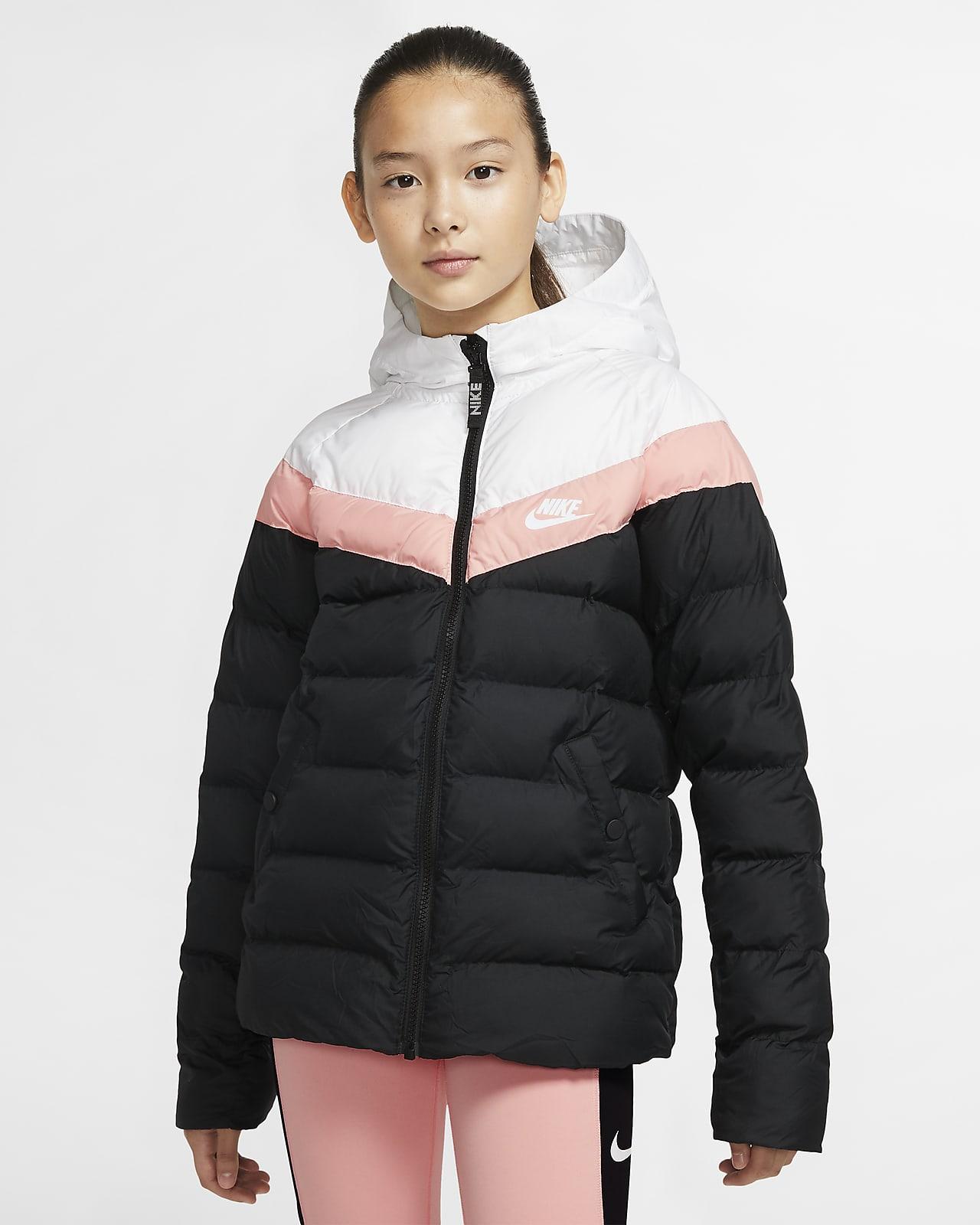 Nike Sportswear FILL Vinterkåpe frakk blackwhite