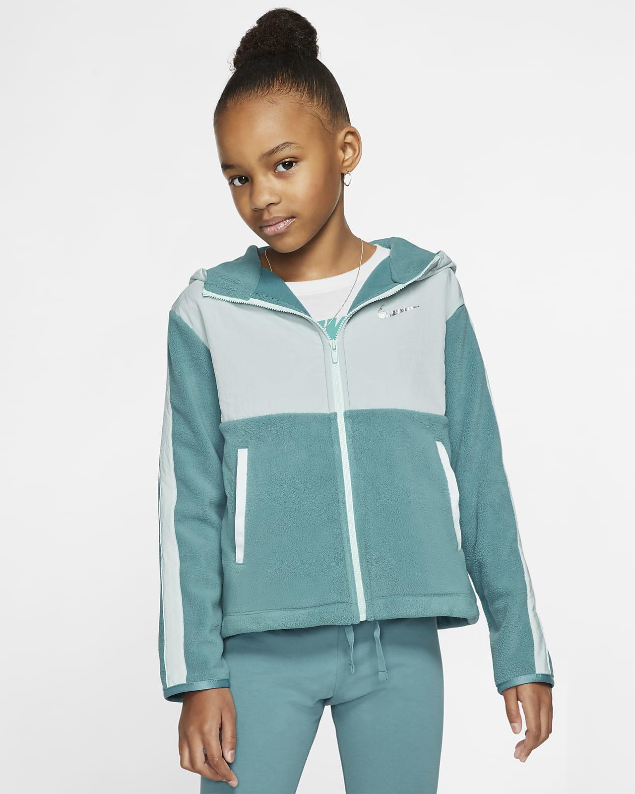 Nike Therma Big Kids' (Girls') Full-Zip Training Hoodie