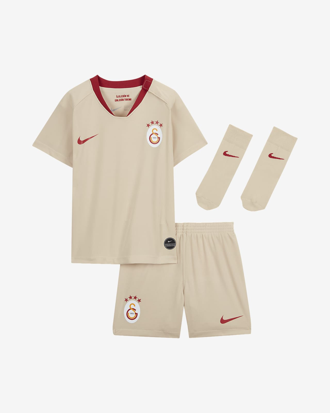 Kit de visitante para bebés e infantil del Galatasaray 2019/20