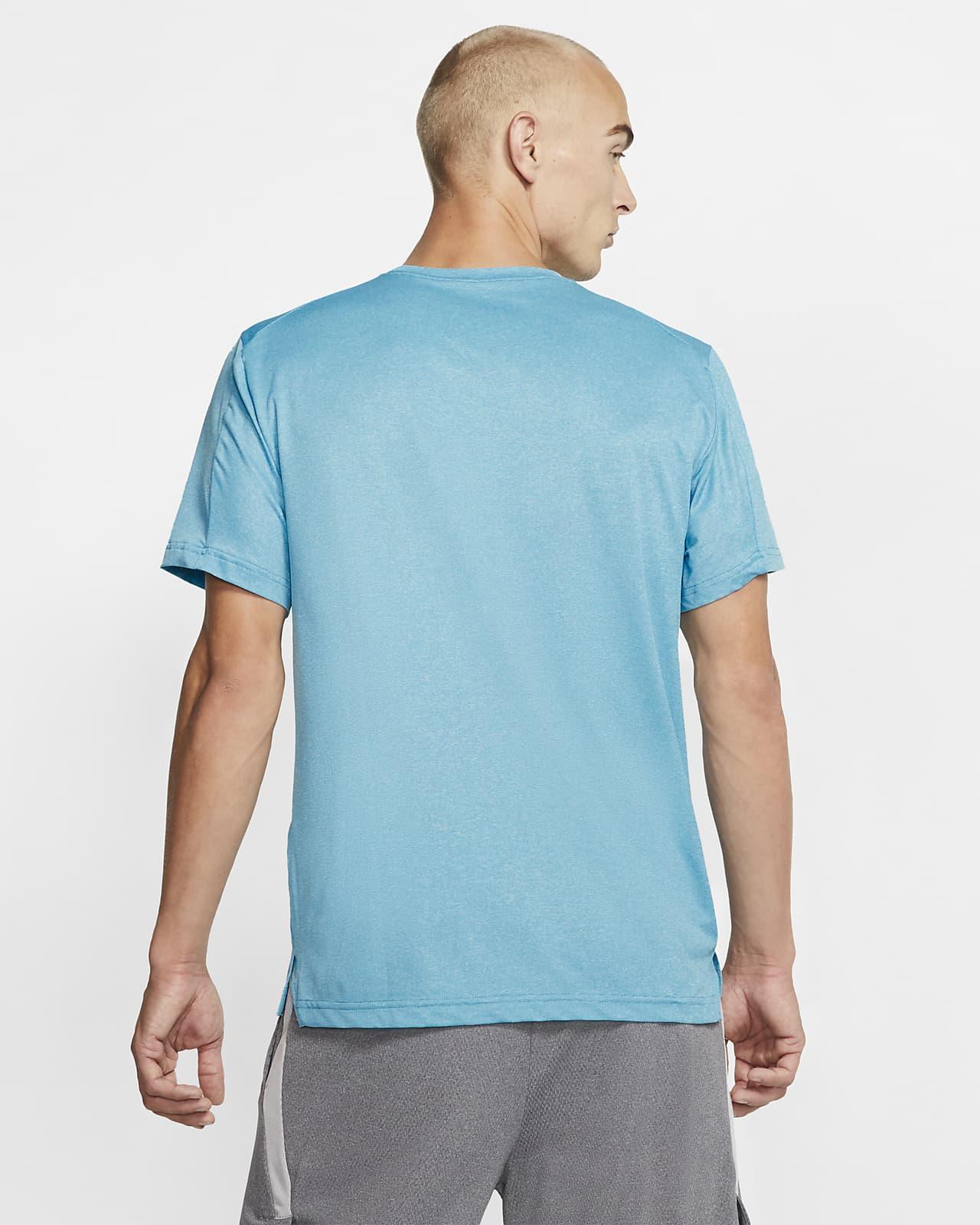 Nike Pro Dri FIT T Shirt Men laser blue psychic blue