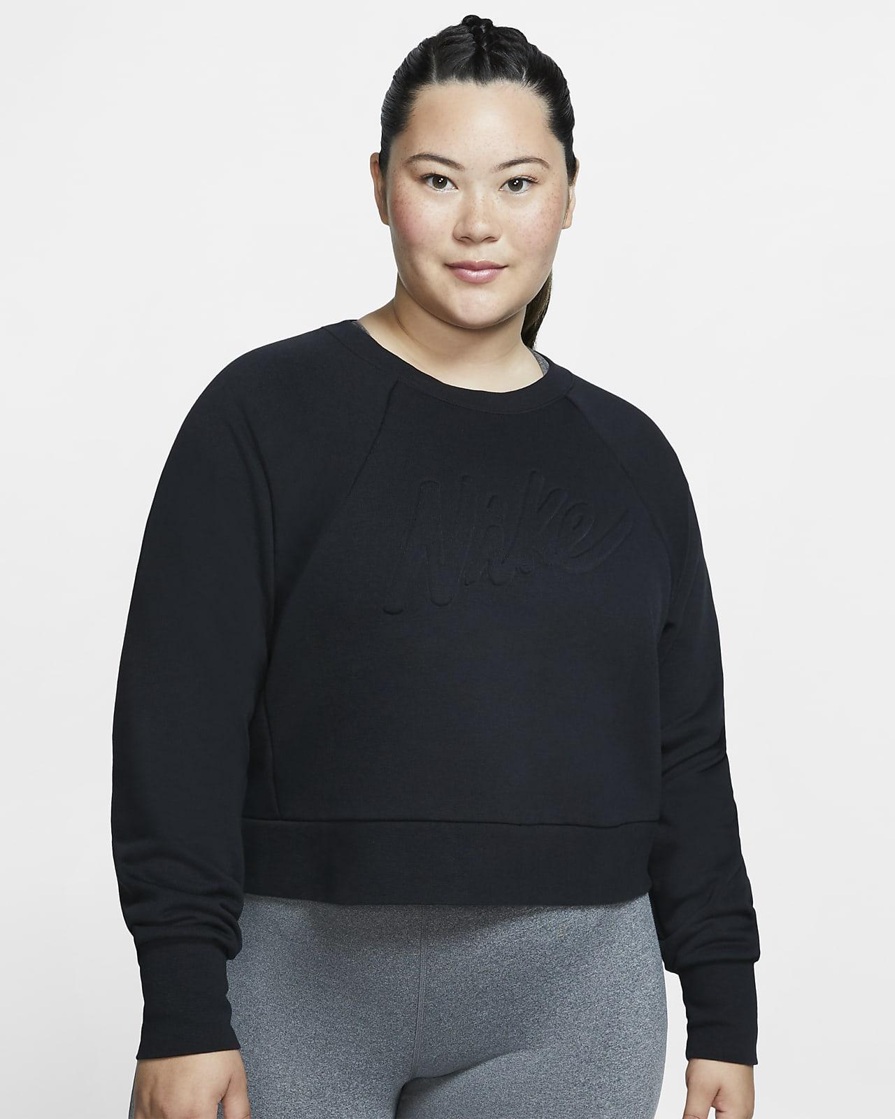 Nike Dri-FIT Luxe Uzun Kollu Kadın Antrenman Üstü (Büyük Beden)