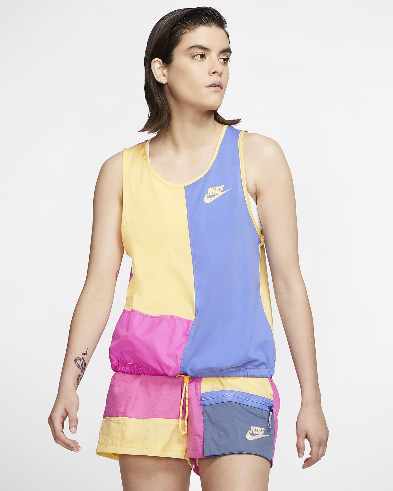 Camiseta de tirantes para mujer Nike Sportswear Icon Clash