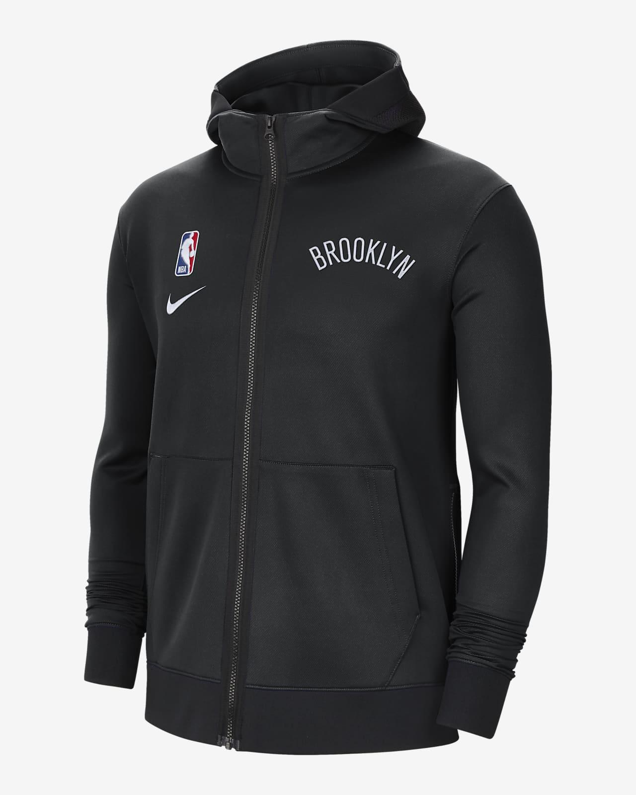 Brooklyn Nets Showtime Nike Therma Flex NBA-s kapucnis férfipulóver