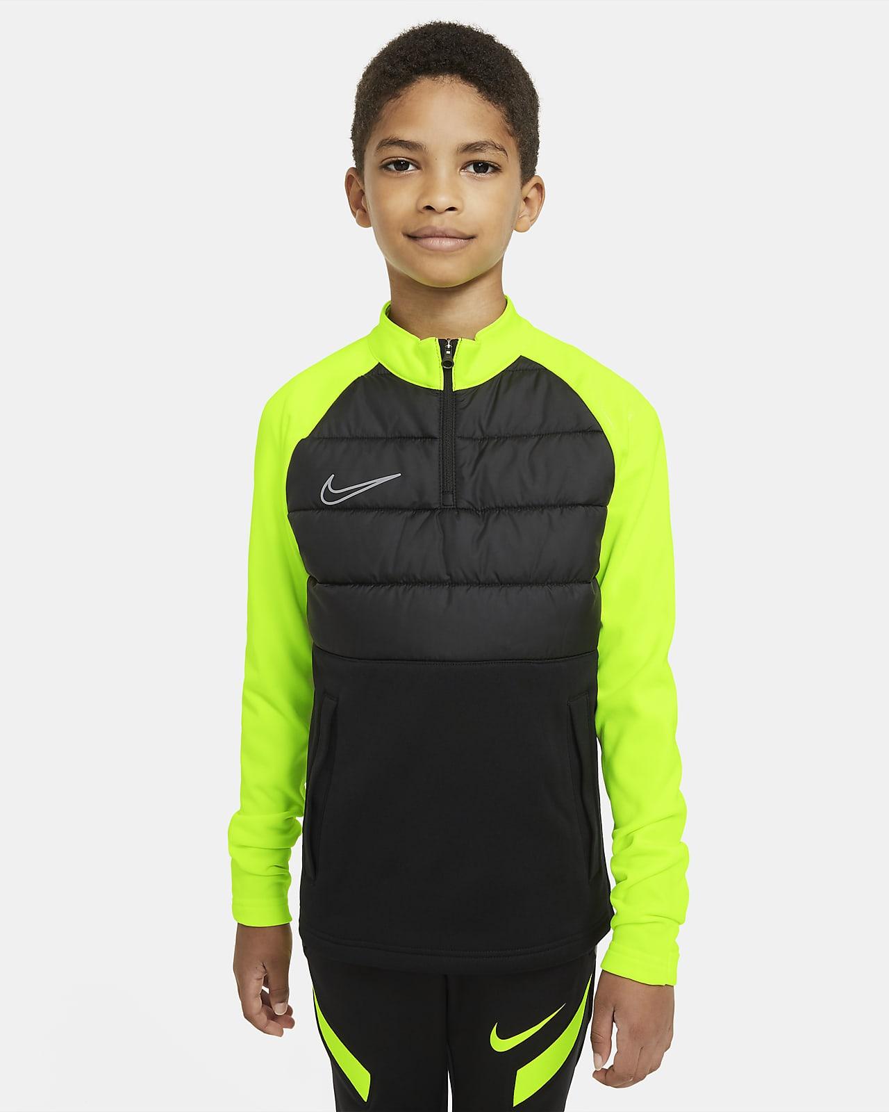 Nike Dri-FIT Academy Winter Warrior-fodboldtræningstrøje til store børn
