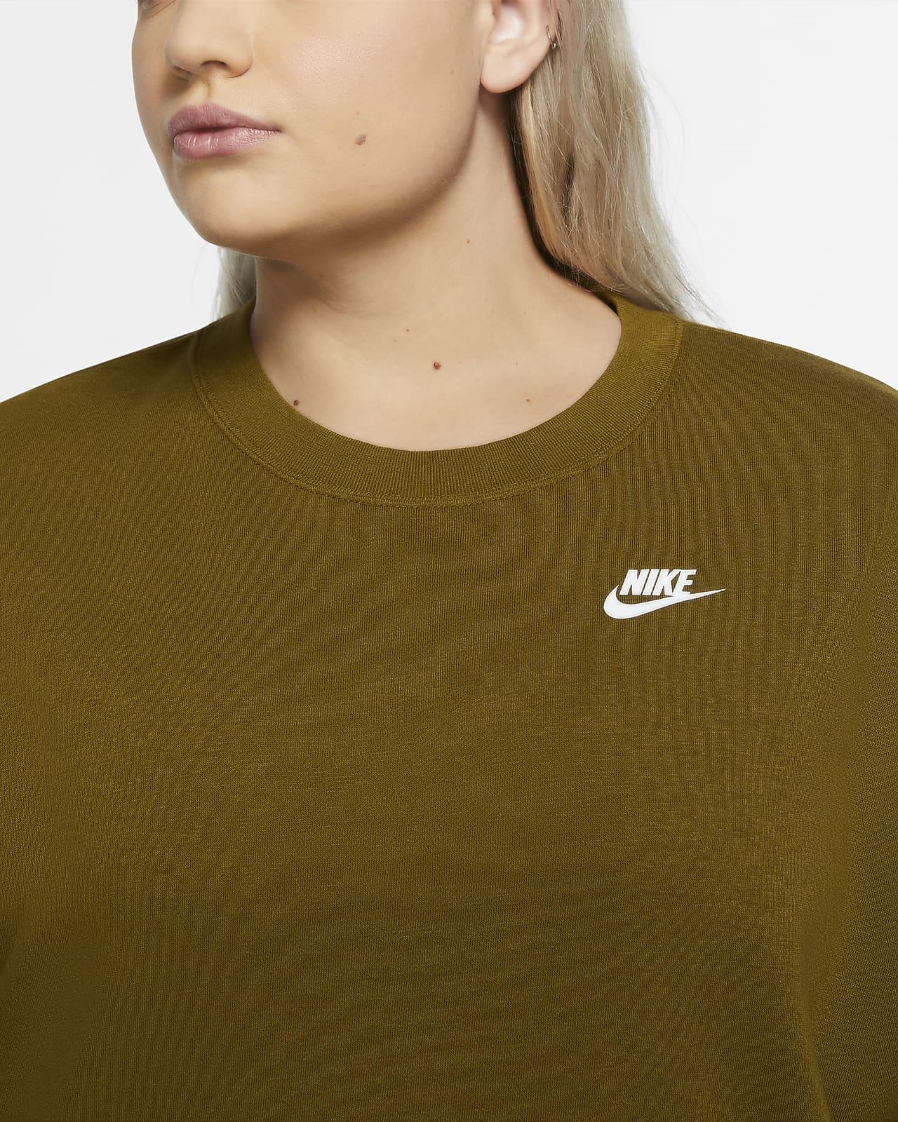 Resignación toxicidad desmayarse  Camiseta de cuello redondo para mujer (talla grande) Nike Sportswear Club.  Nike.com