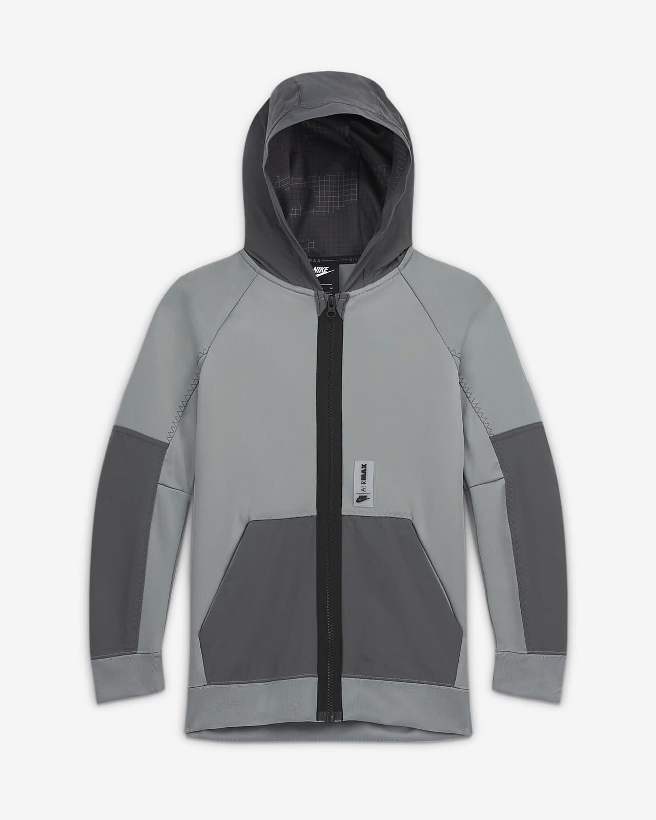 Nike Sportswear Air Max-hættetrøje med lynlås til store børn (drenge)