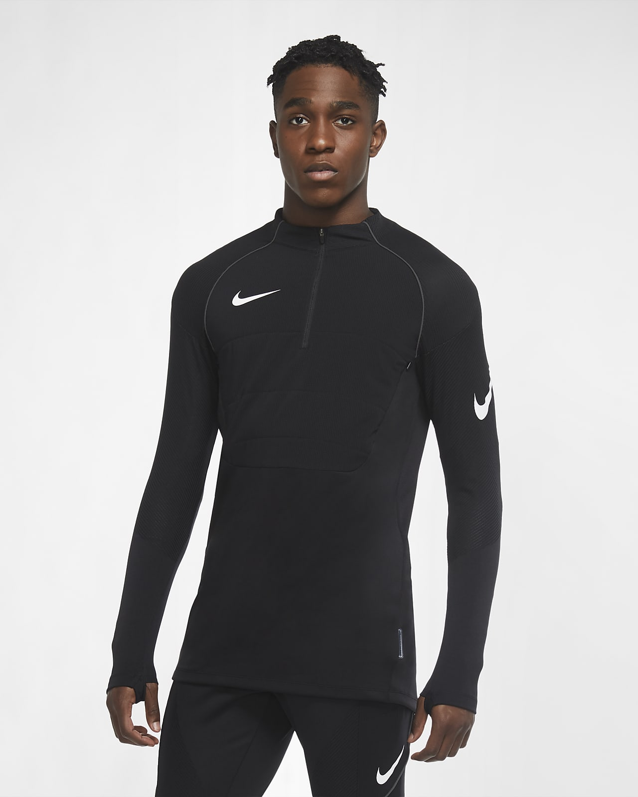 Nike VaporKnit Strike Winter Warrior Gewatteerde voetbaltrainingstop voor heren