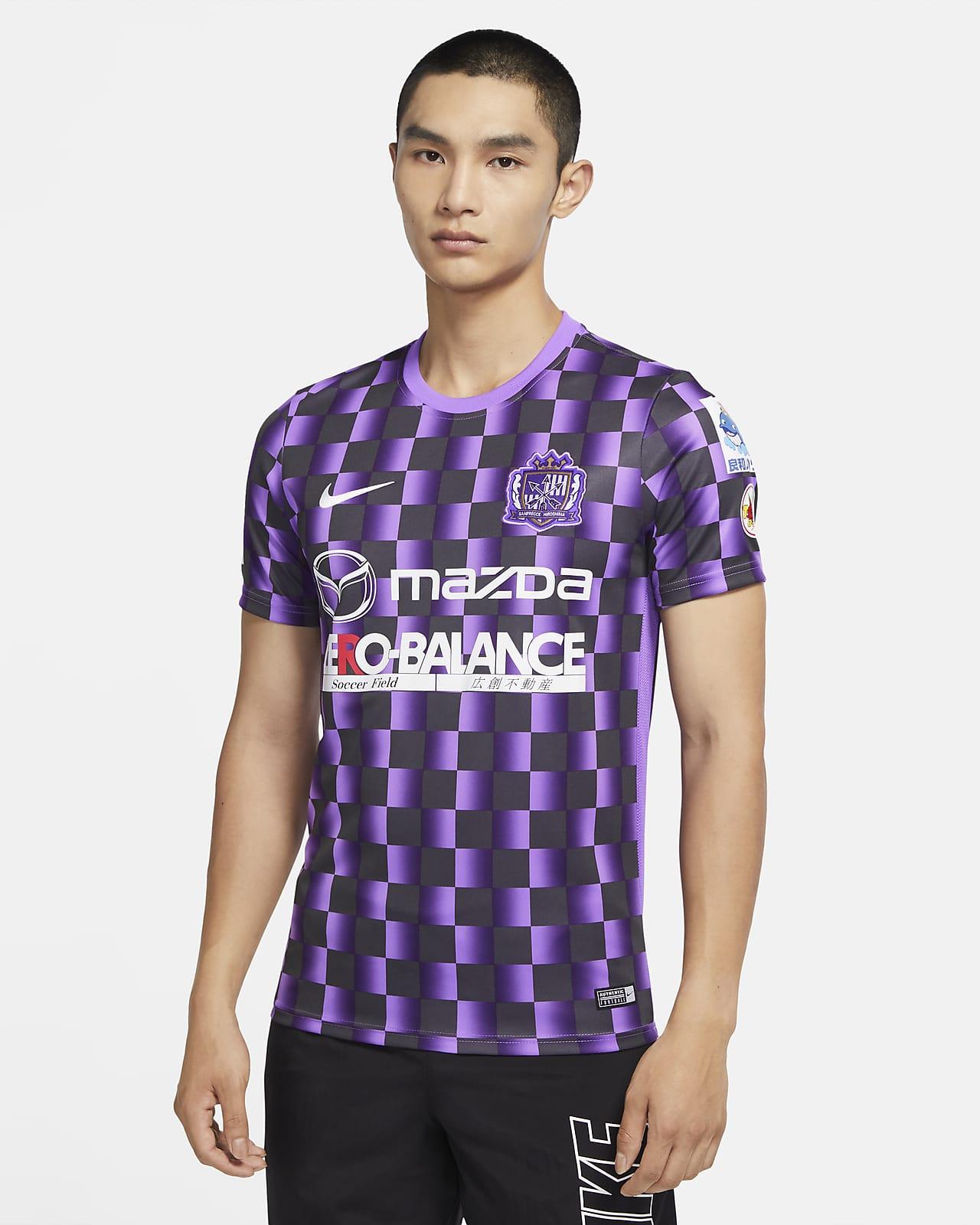 サンフレッチェ Hiroshima アカデミー メンズ ショートスリーブ グラフィック サッカートップ