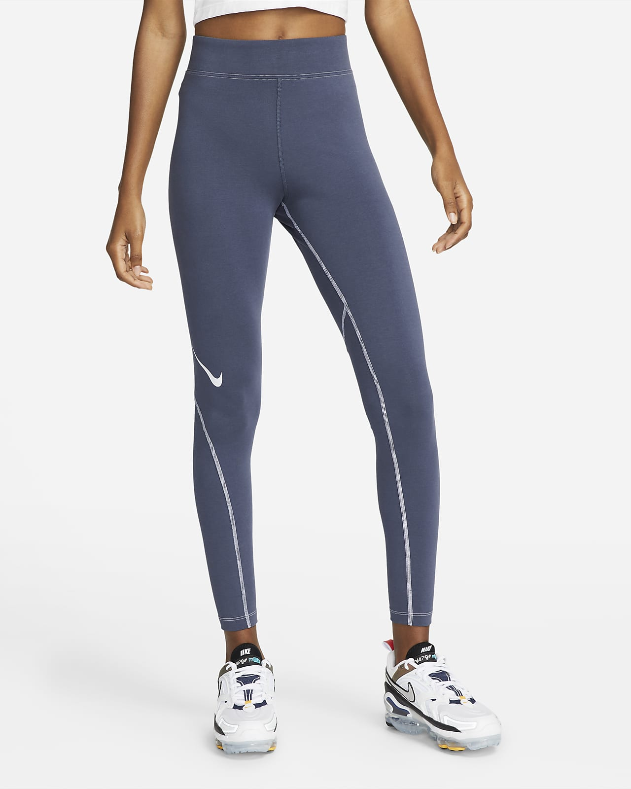 Nike Sportswear Swoosh Women's Graphic High-Rise 7/8 Leggings