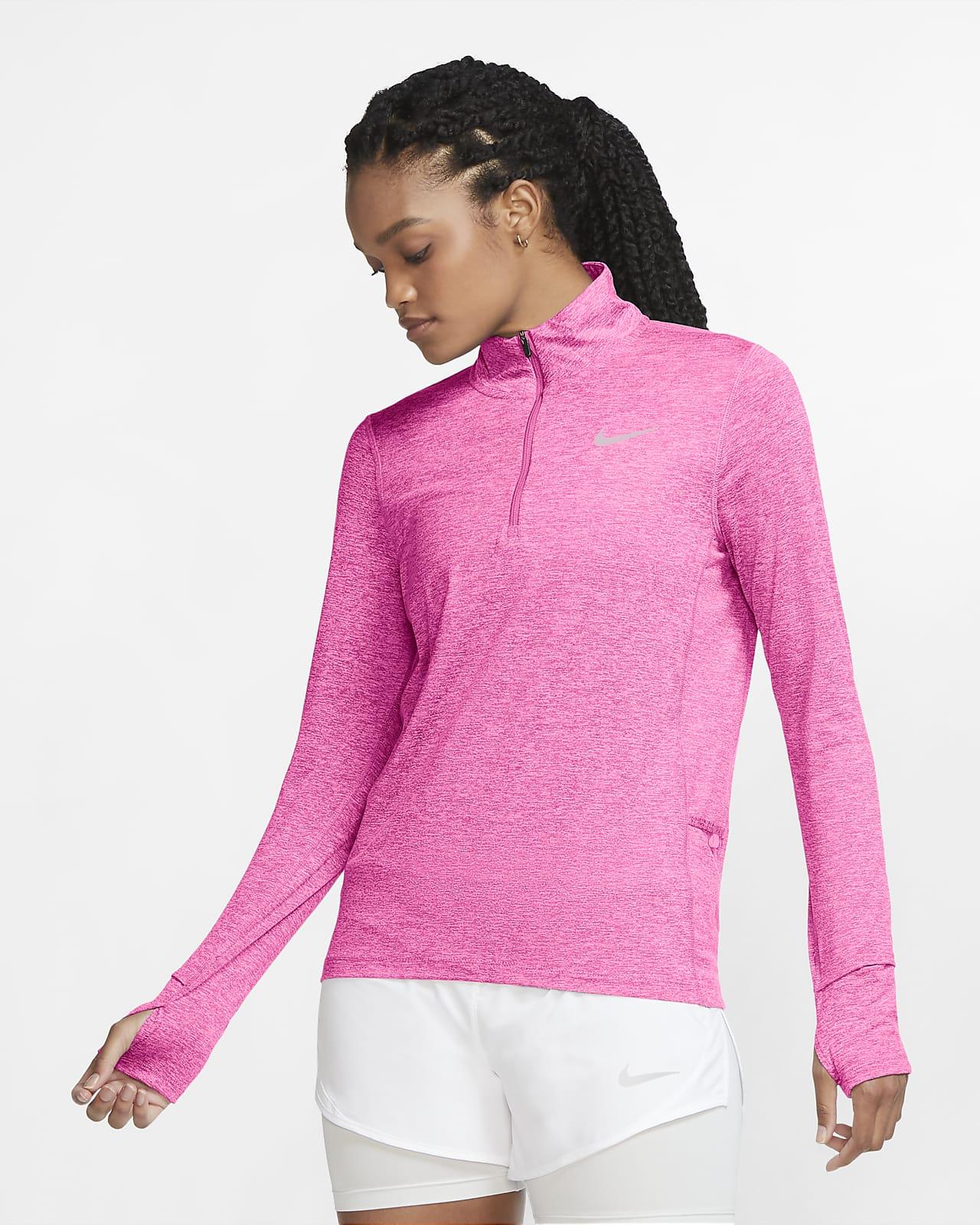 Top de running con cierre de 1/2 para mujer Nike Element