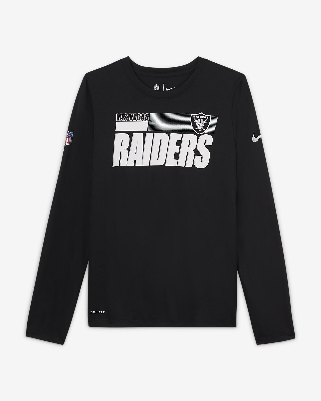 Tee-shirt Nike Legend Sideline (NFL Las Vegas Raiders) pour Garçon plus âgé