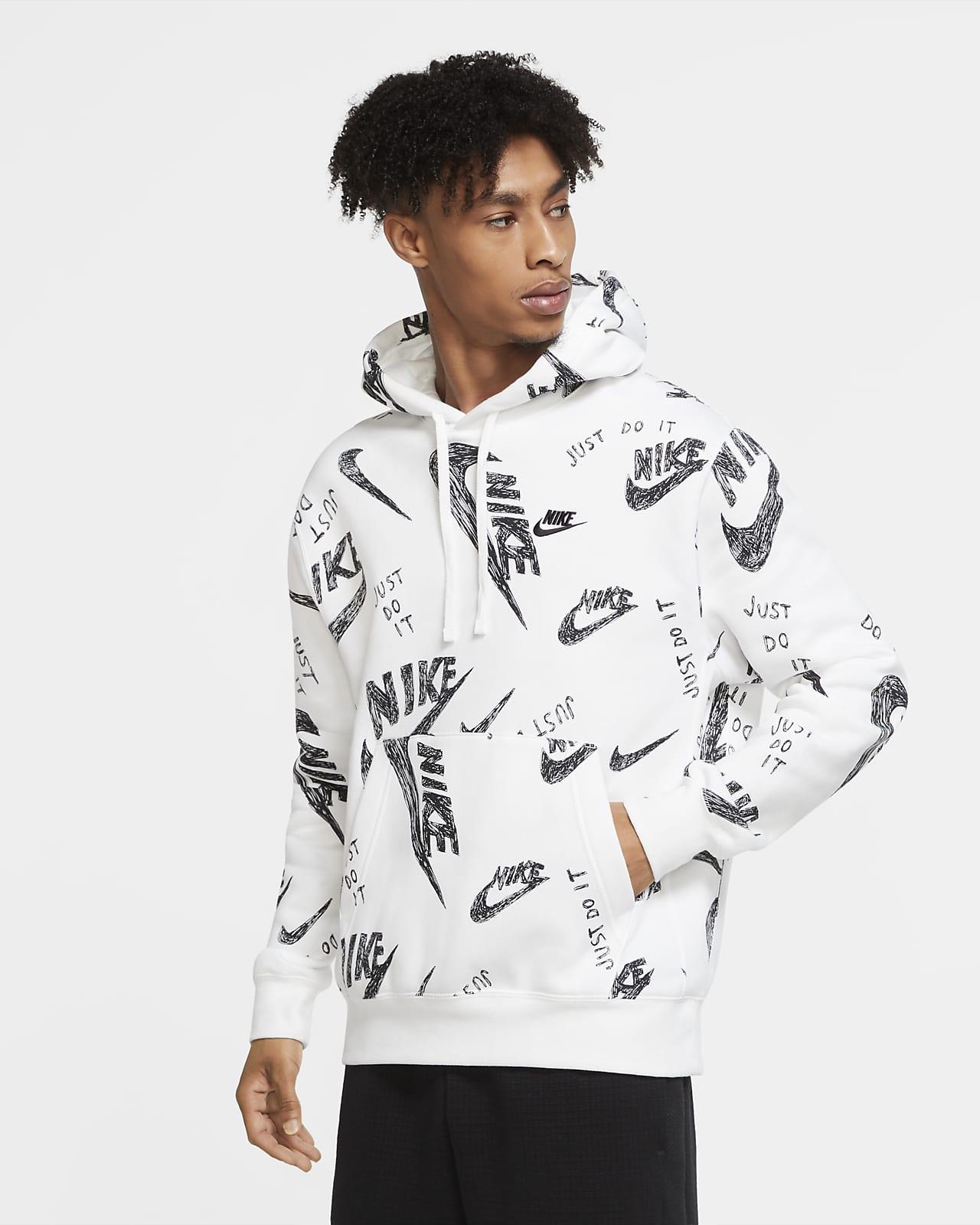 Huvtröja Nike Sportswear Club i pullovermodell för män