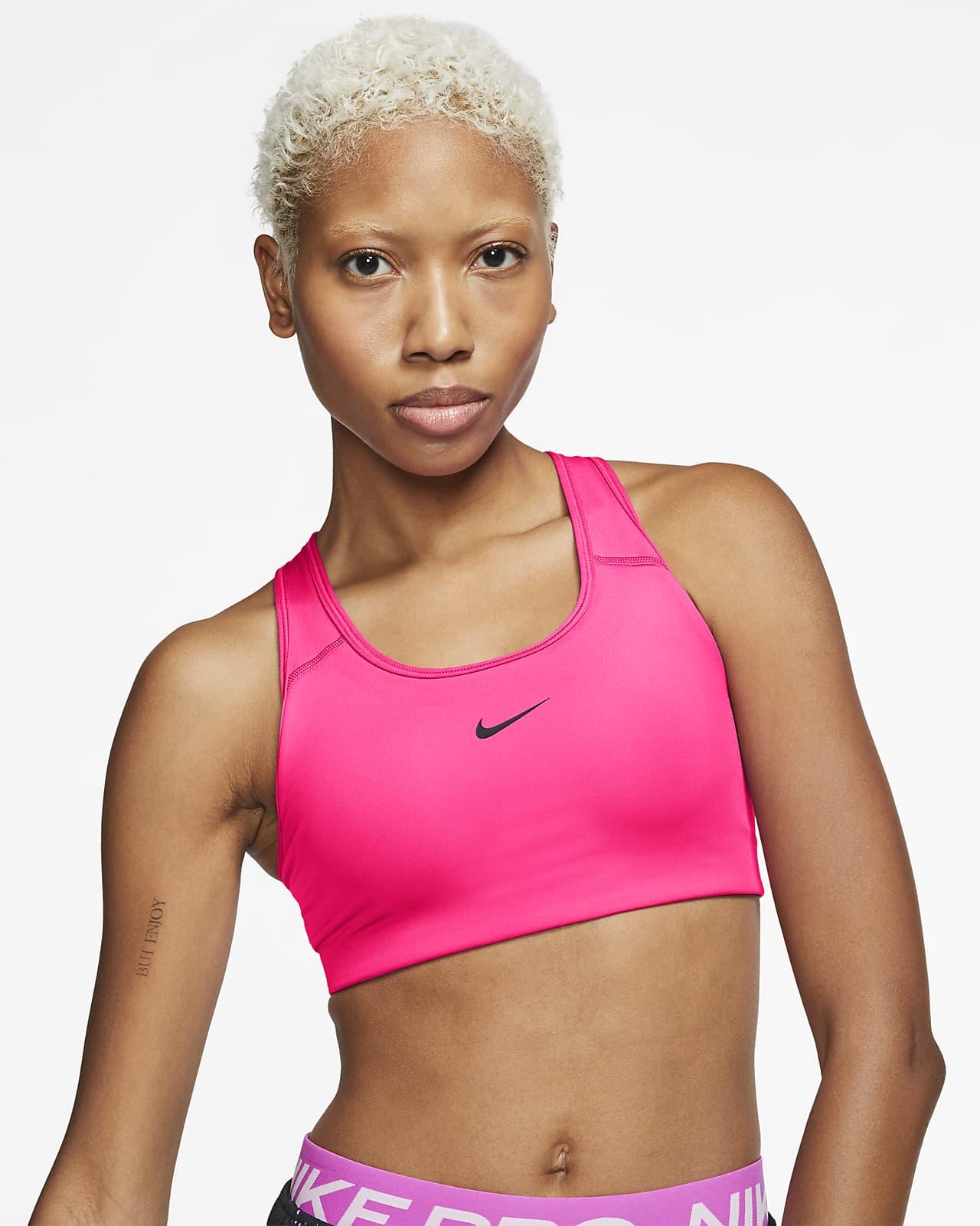 Bra con imbottitura in pezzo unico a sostegno medio Nike Swoosh - Donna