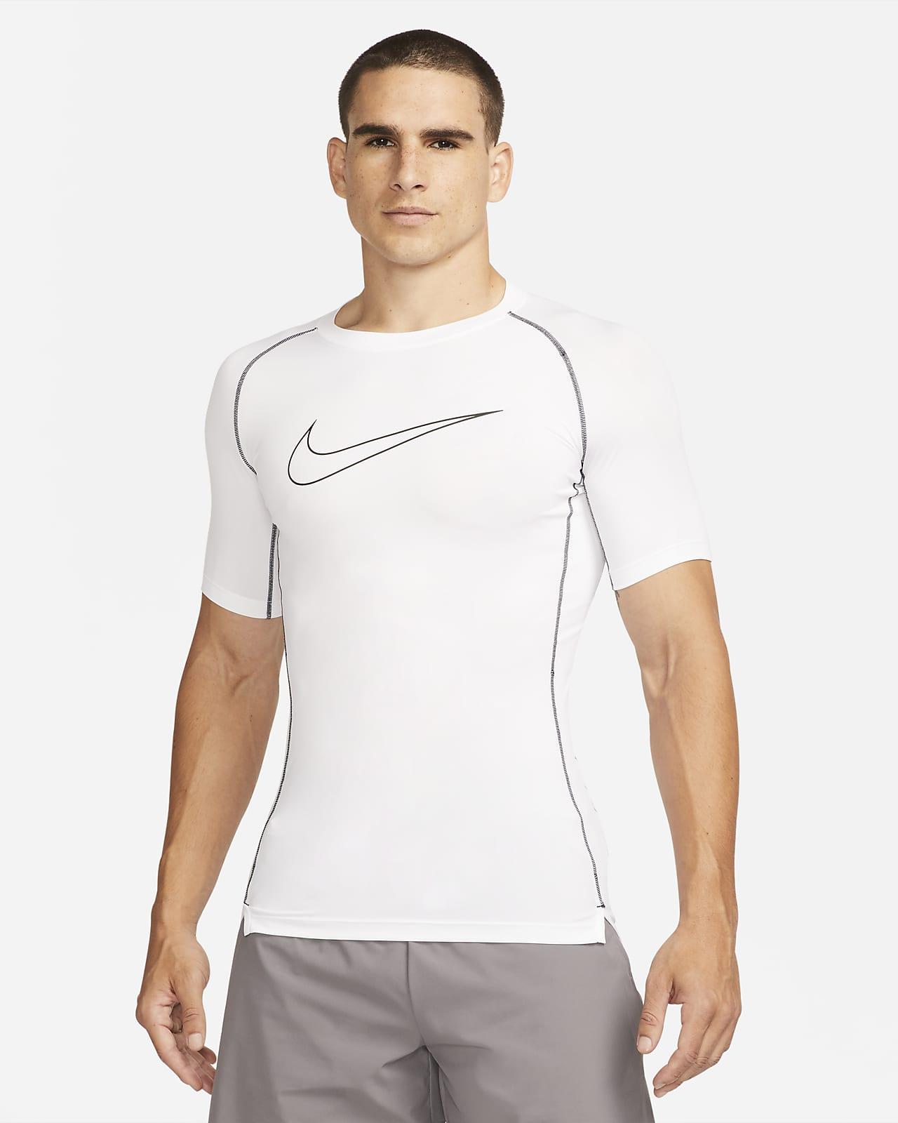 Pánské přiléhavé tričko Nike Pro Dri-FIT skrátkým rukávem