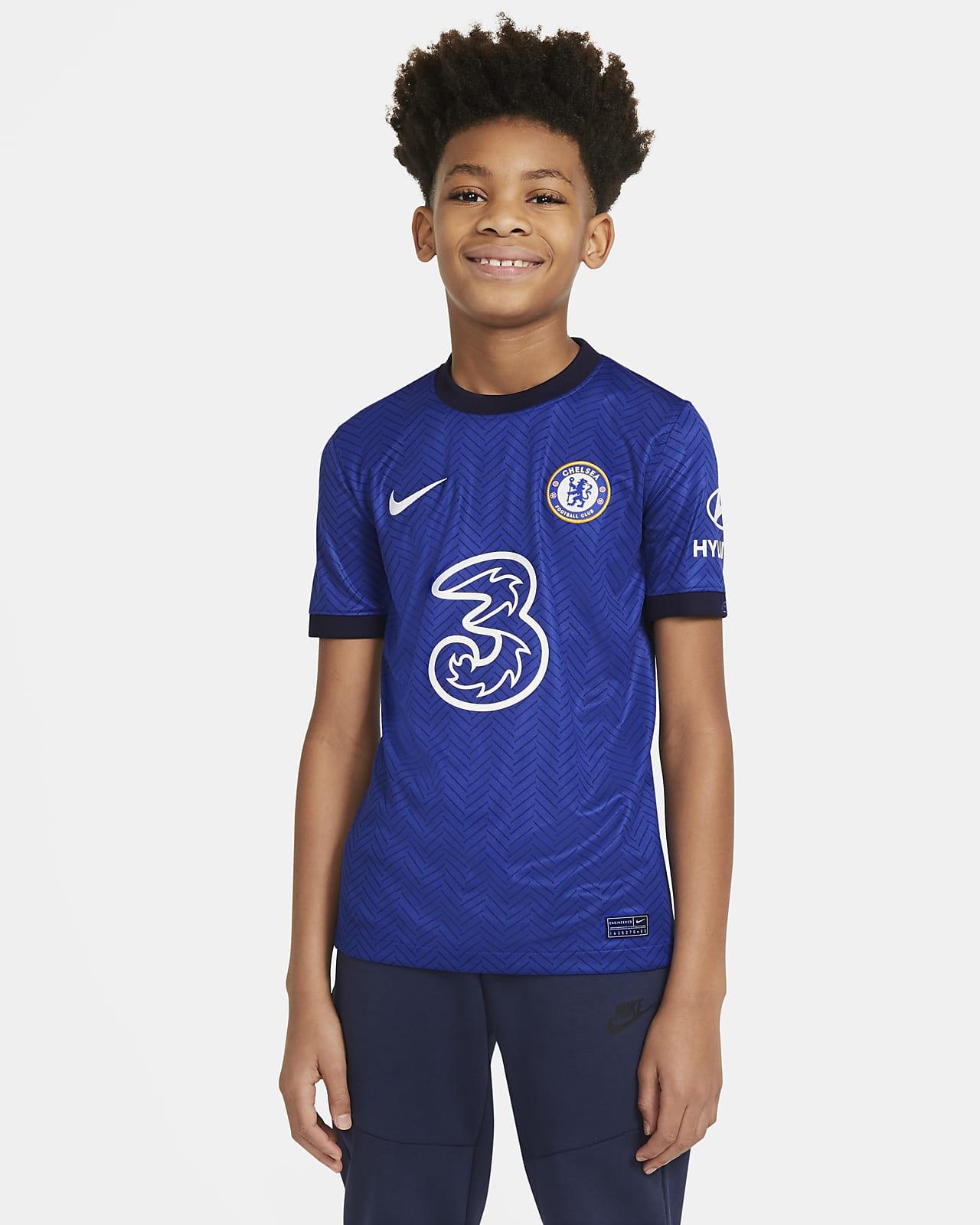 Chelsea FC 2020/21 Stadyum İç Saha Genç Çocuk Futbol Forması