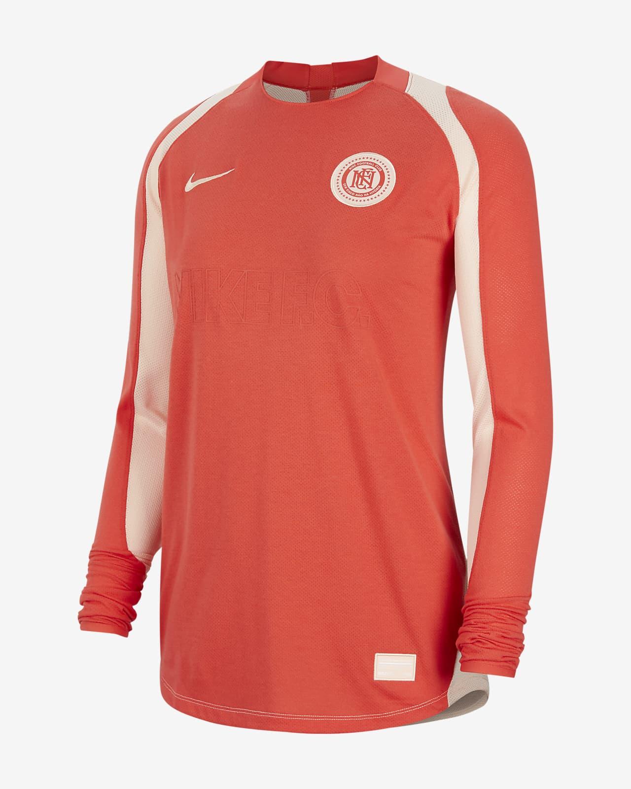 Langærmet Nike F.C.-fodboldtrøje til kvinder