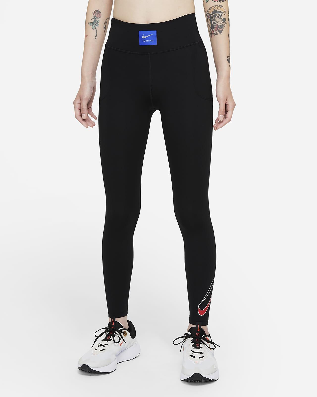 Nike Dri-FIT Retro Run Faster 女款中腰跑步九分內搭褲