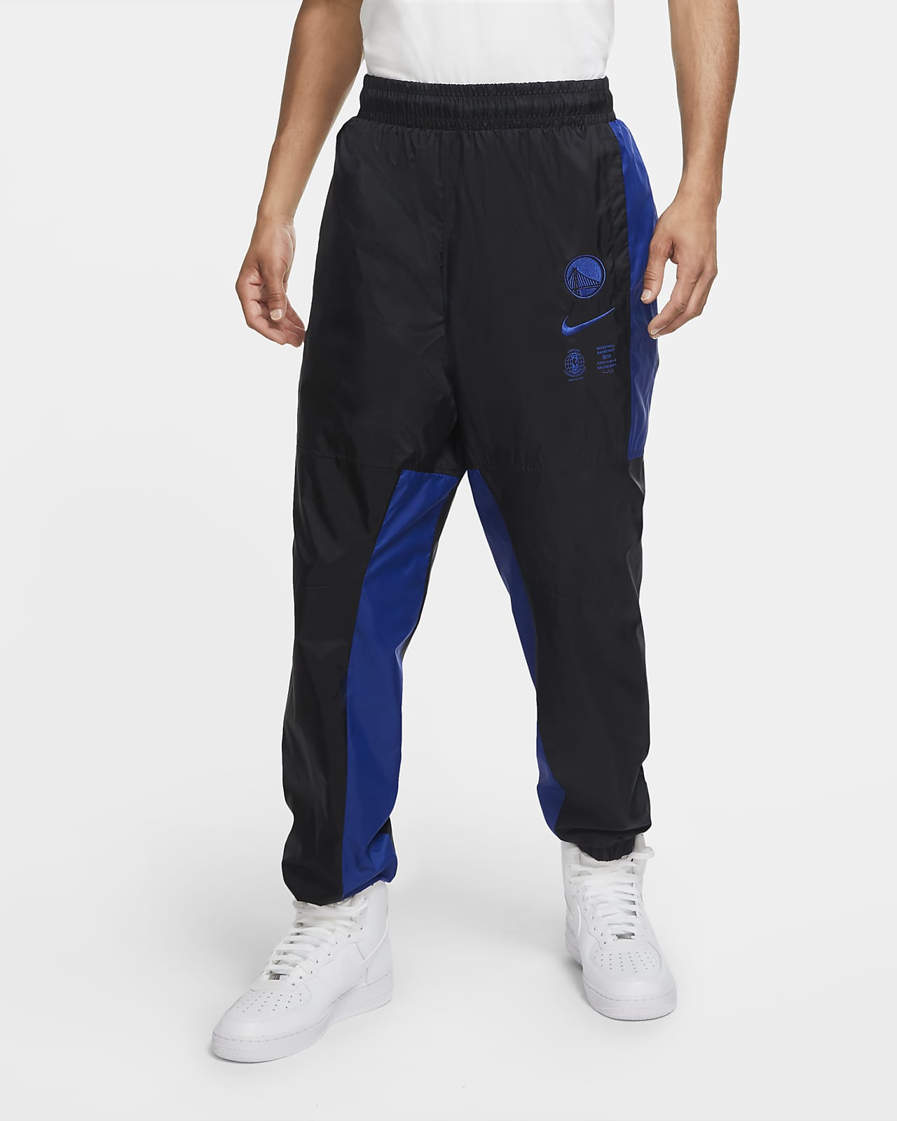Golden State Warriors Courtside Men's Nike NBA Tracksuit Pants