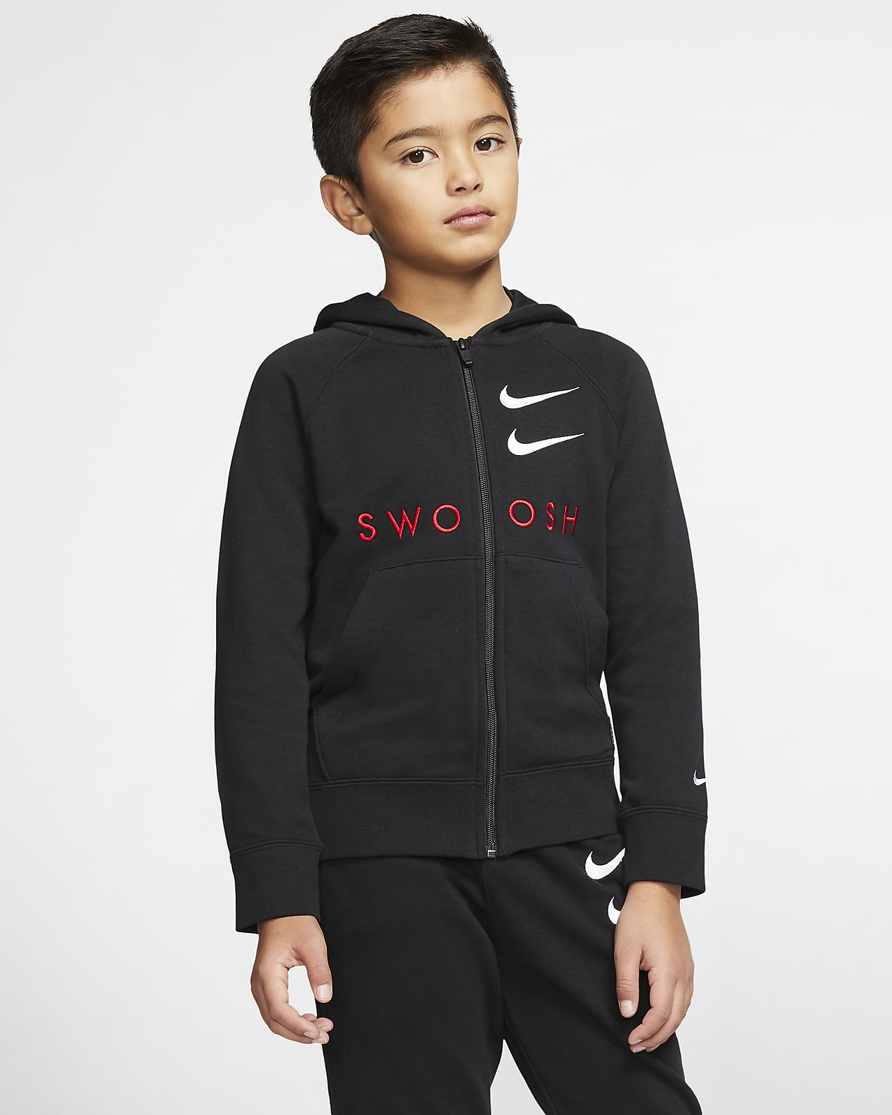 Nike Sportswear Swoosh Older Kids' (Boys') Full-Zip French Terry Hoodie