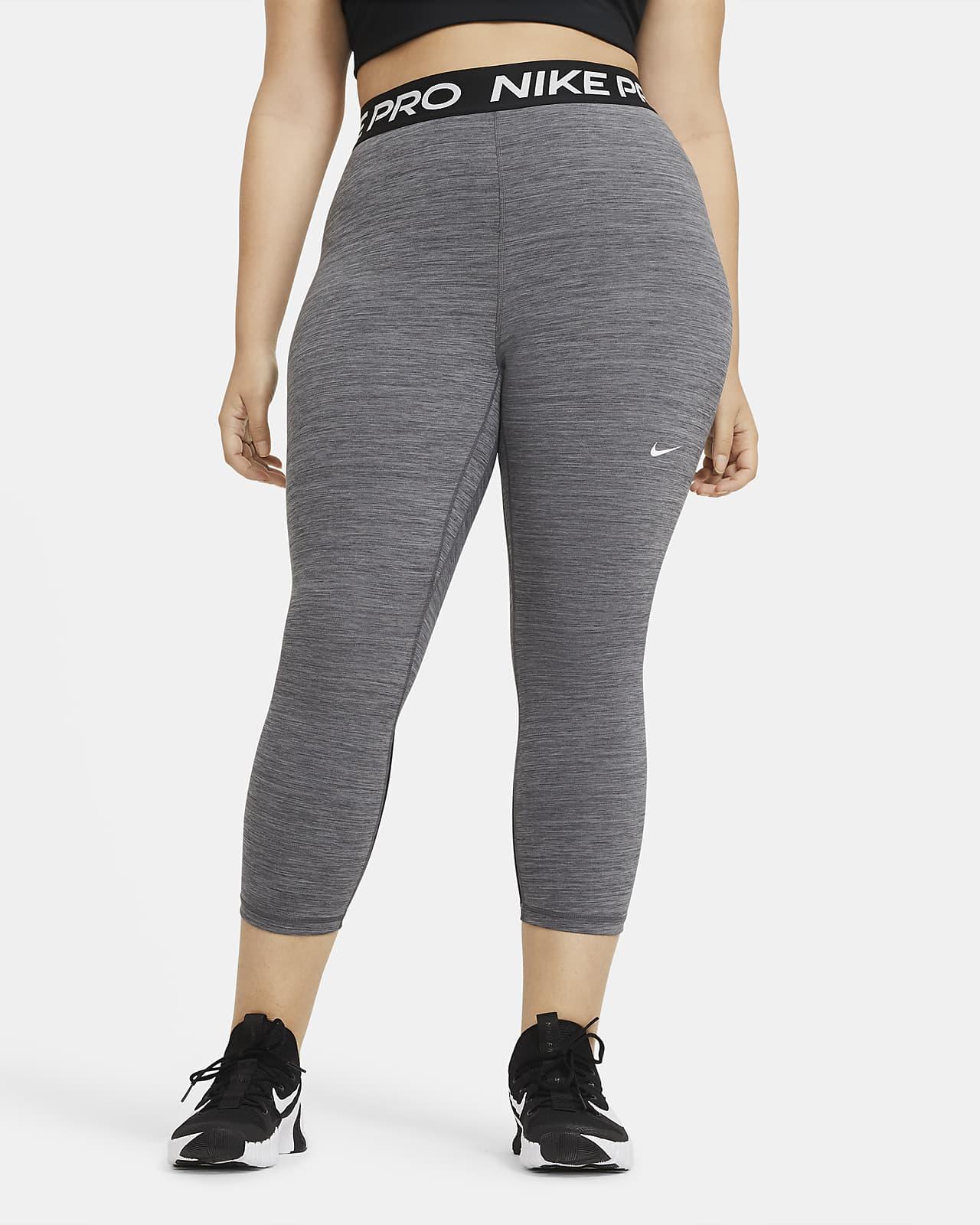 Leggings cropped de tiro medio para mujer (talla grande) Nike Pro
