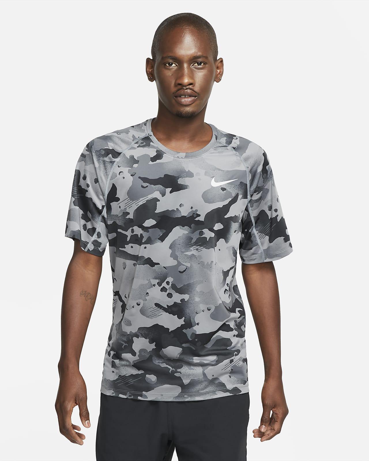 Nike Pro–kortærmet camo-overdel til mænd