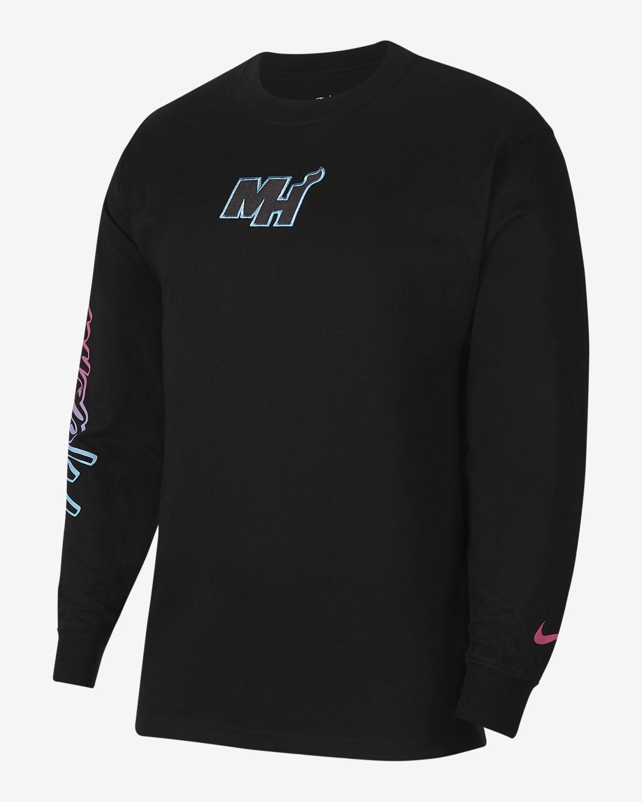 profundizar Estúpido Encommium  Miami Heat Courtside City Edition Men's Nike NBA T-Shirt. Nike IL