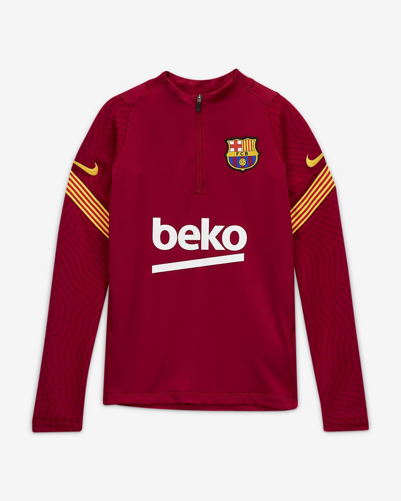 Prenda para la parte superior de entrenamiento de fútbol para niños talla grande FC Barcelona Strike