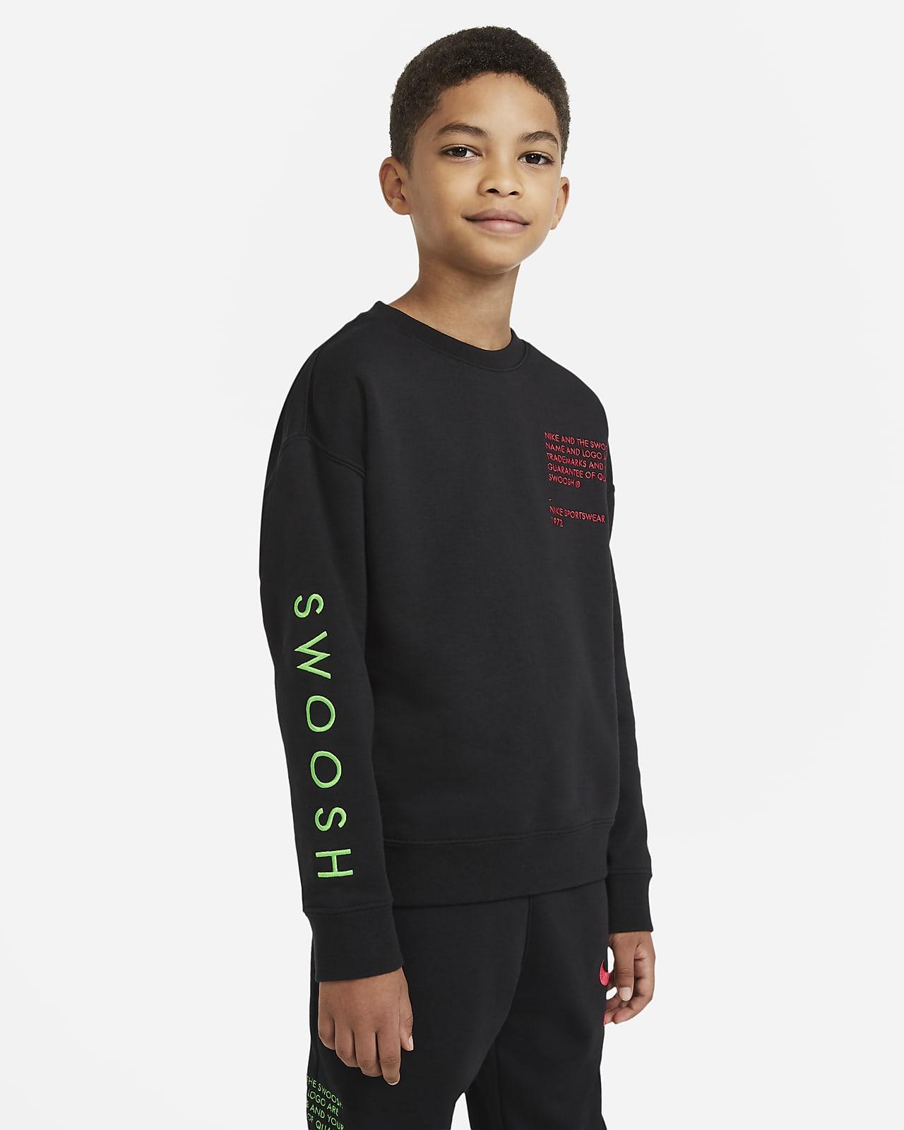 Nike Sportswear Swoosh Big Kids' (Boys') Crew