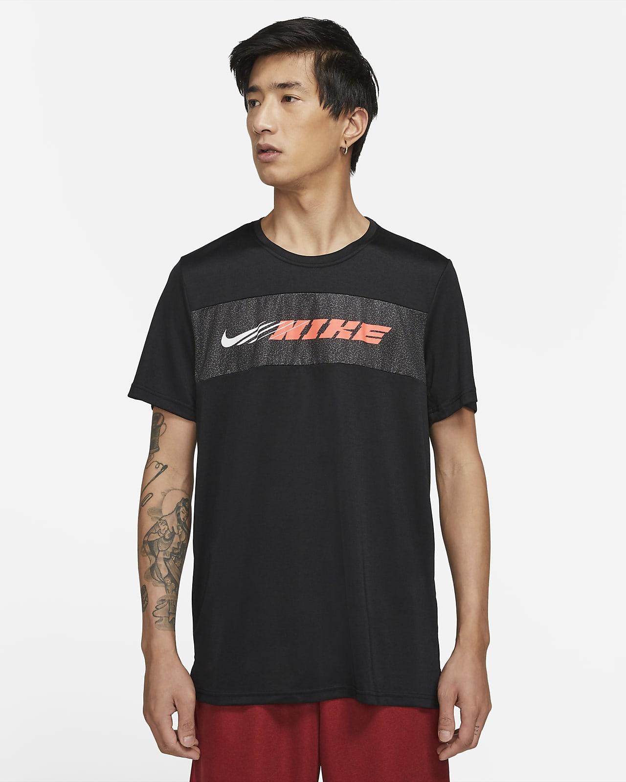 Ανδρική κοντομάνικη μπλούζα προπόνησης Nike Dri-FIT Superset Sport Clash