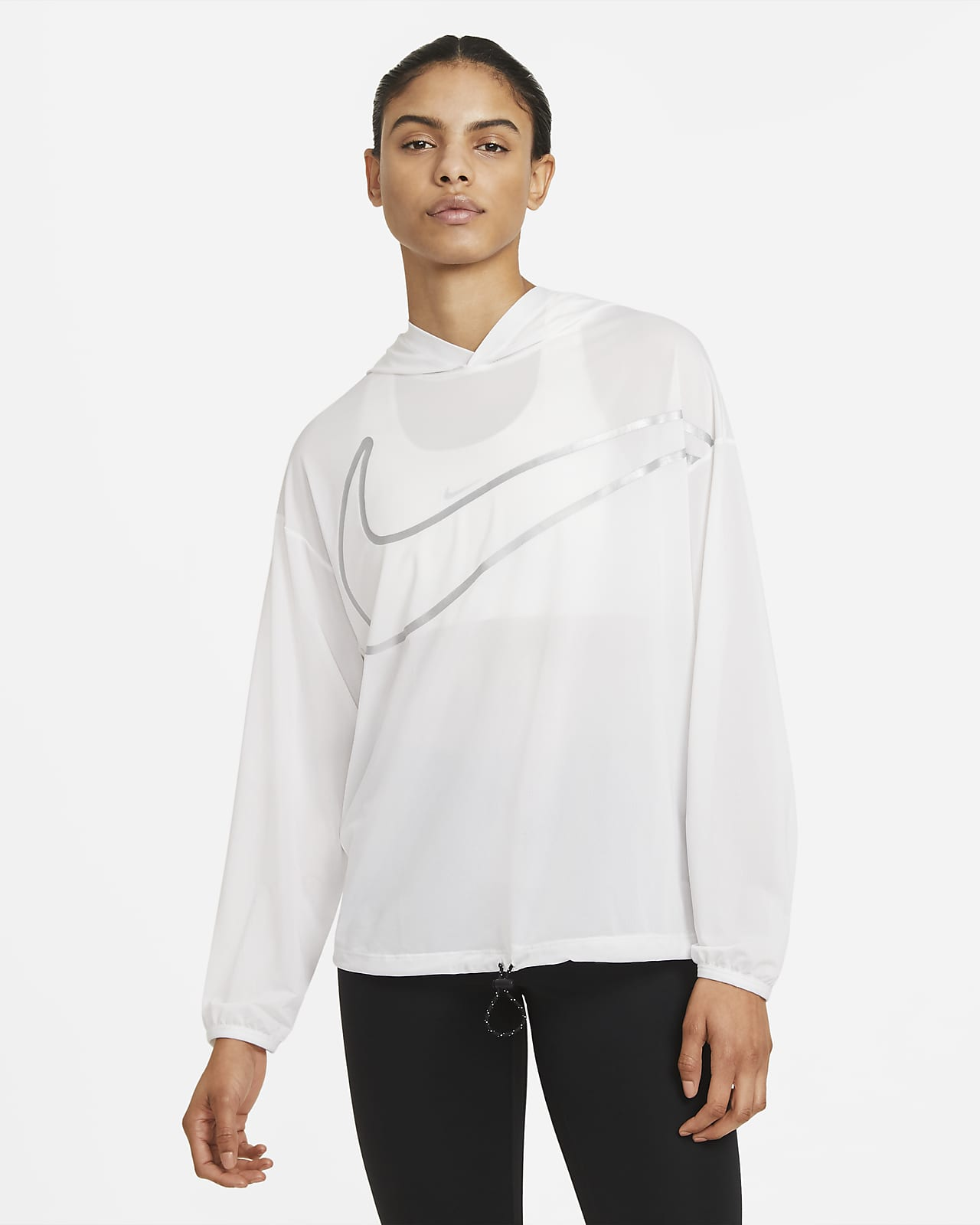 Sudadera con gorro con gráfico para mujer Nike Pro Collection