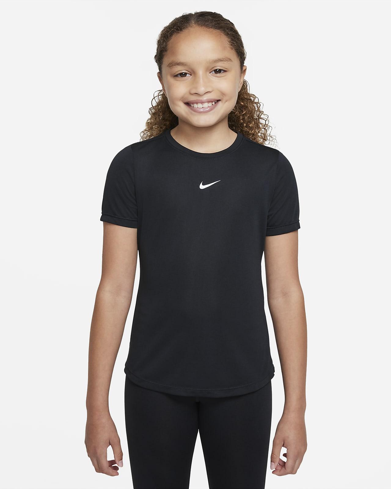 Nike Dri-FIT One Older Kids' (Girls') Short-Sleeve Top