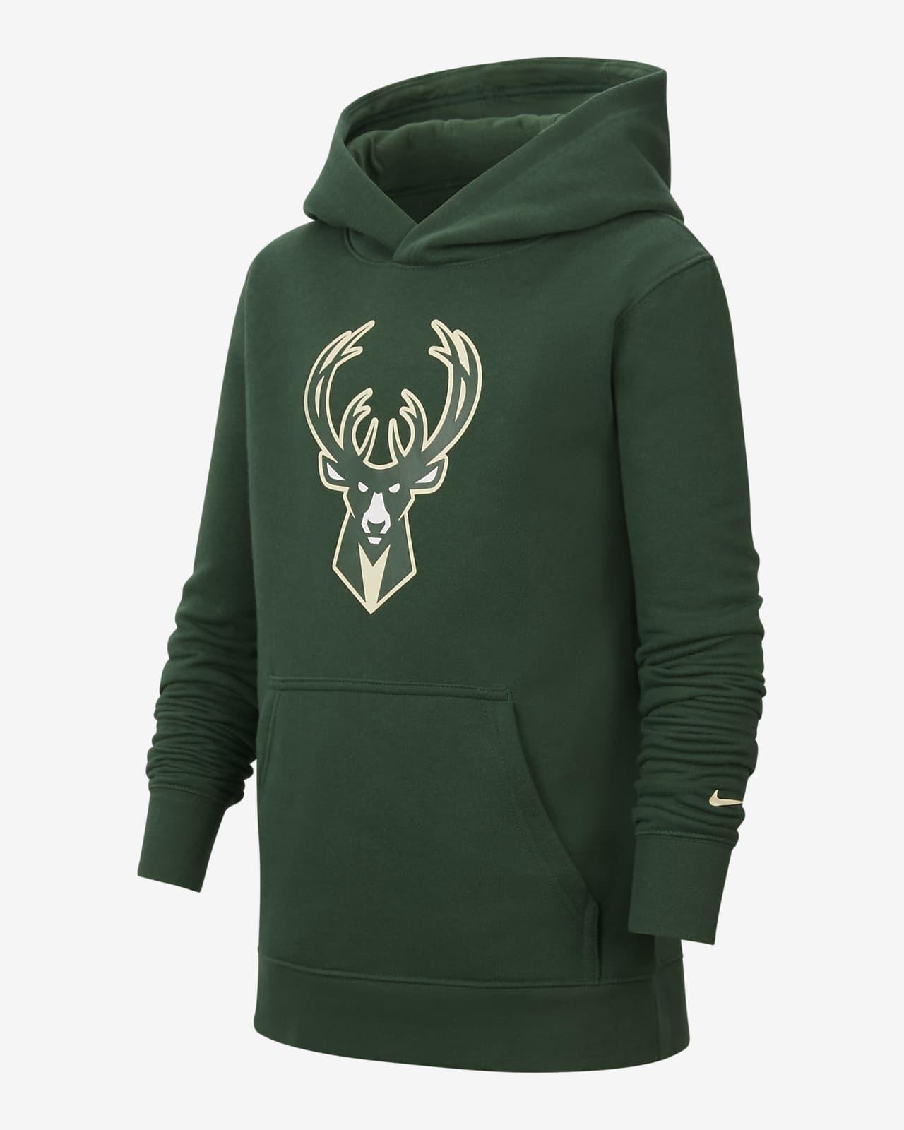 Milwaukee Bucks Essential Older Kids' Nike NBA Pullover Hoodie