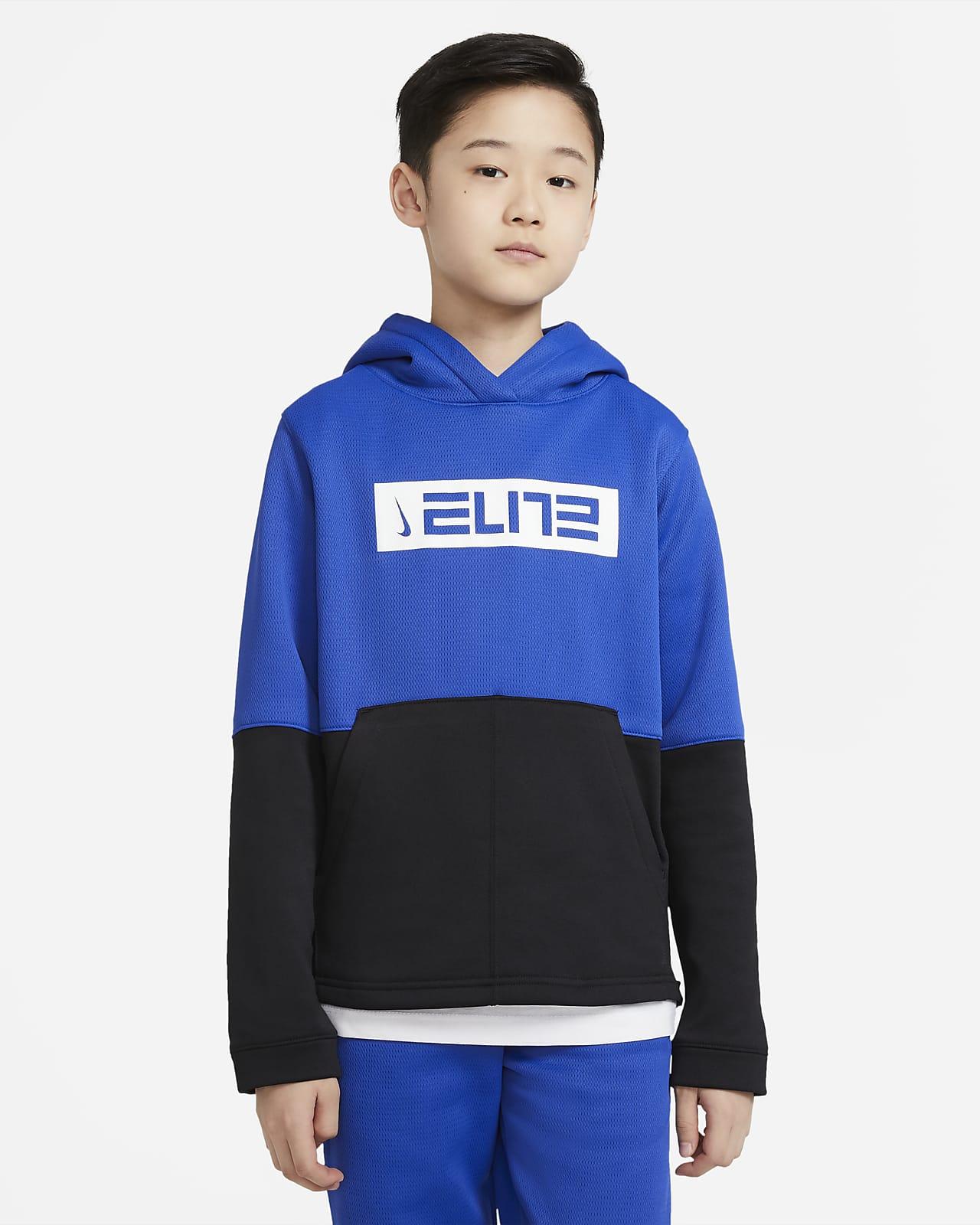 Nike Therma Elite Big Kids' (Boys') Pullover Basketball Hoodie