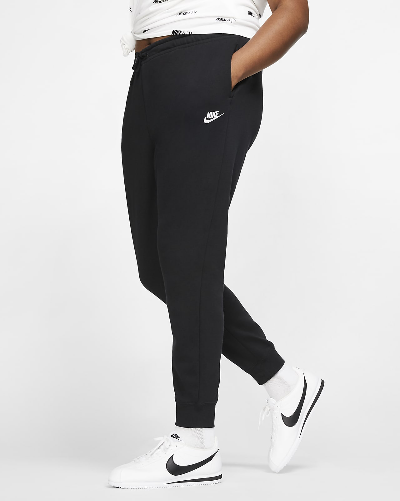 Nike Sportswear Essential Women S Fleece Trousers Plus Size Nike Lu