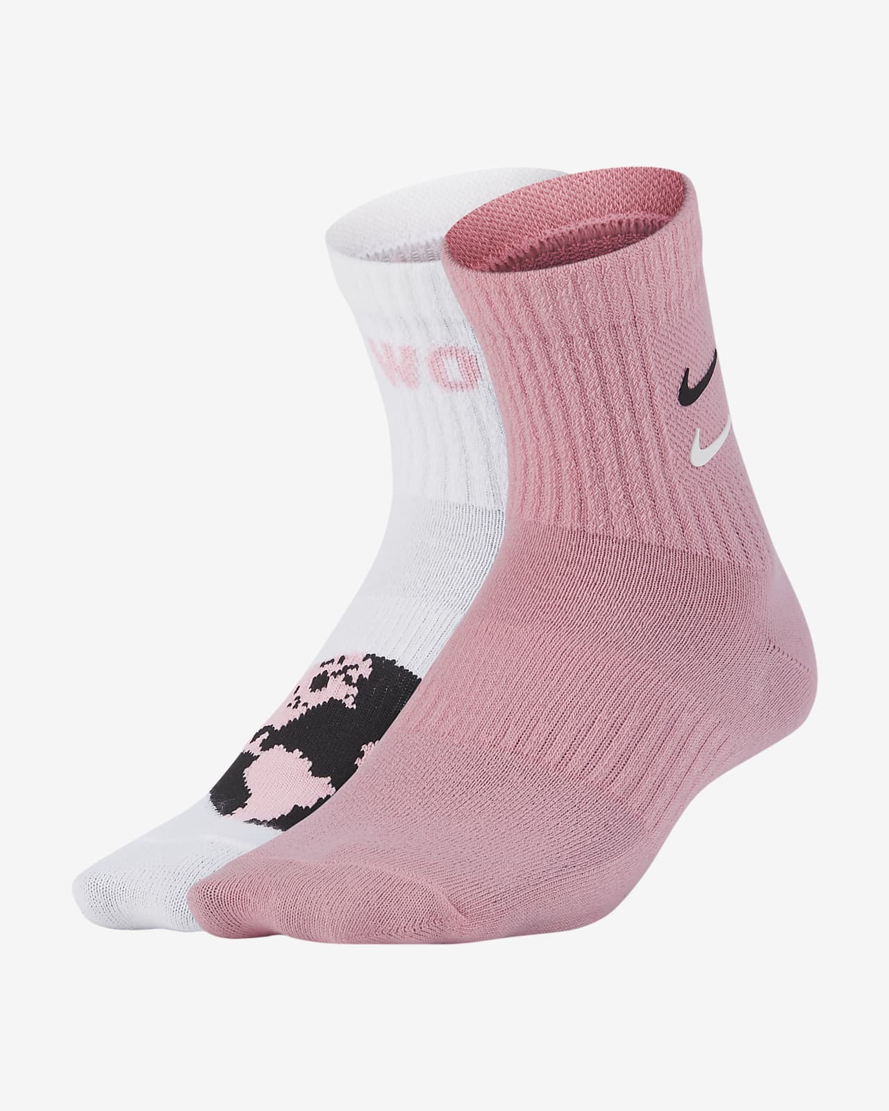 Nike Swoosh Lightweight Ankle 儿童运动童袜(2 双)