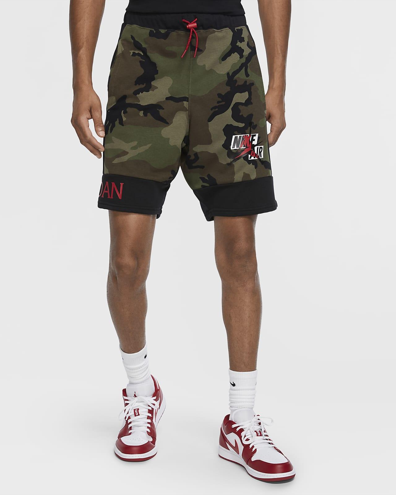 กางเกงขาสั้นผ้าฟลีซผู้ชาย Jordan Jumpman Classics Camo