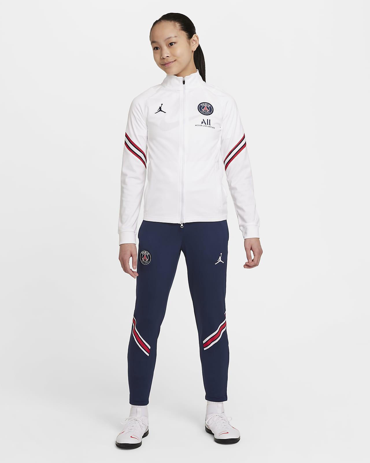 Paris Saint-Germain Strike Home Nike Dri-FIT Fußball-Trainingsanzug für jüngere Kinder