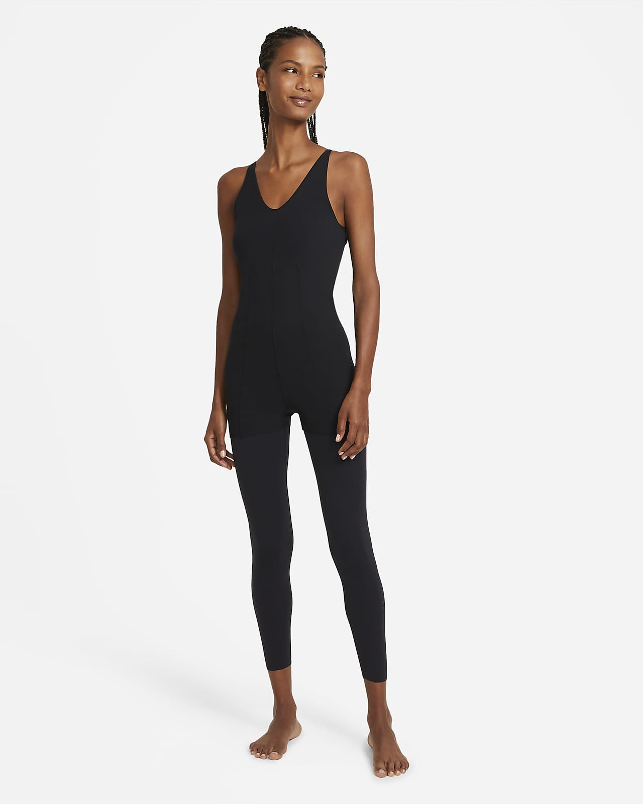 Nike Yoga Luxe-lagdelt 7/8-buksedragt til kvinder
